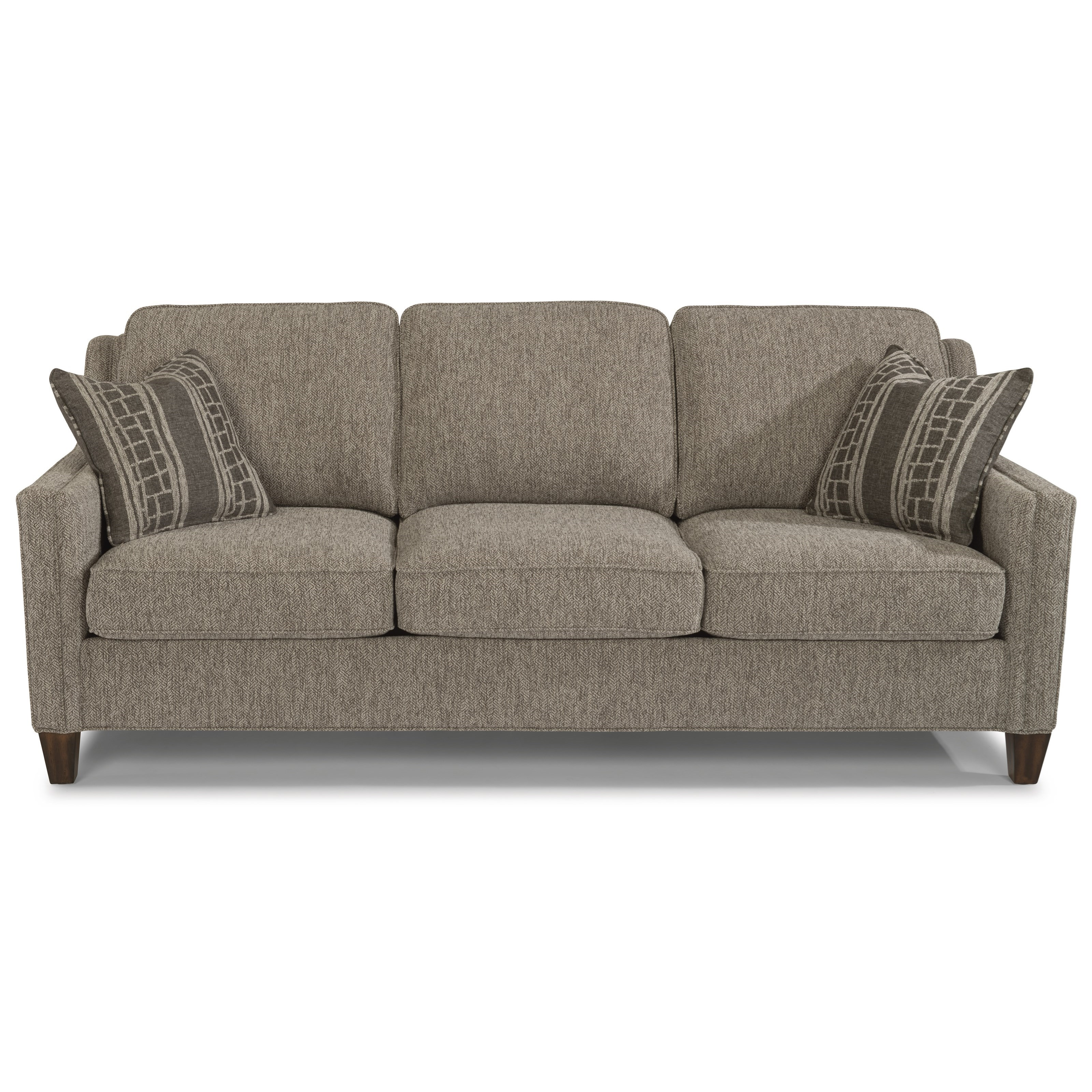 Sofa Modern Finley Contemporary Sofa With Track Arms By Flexsteel At Dunk Bright Furniture