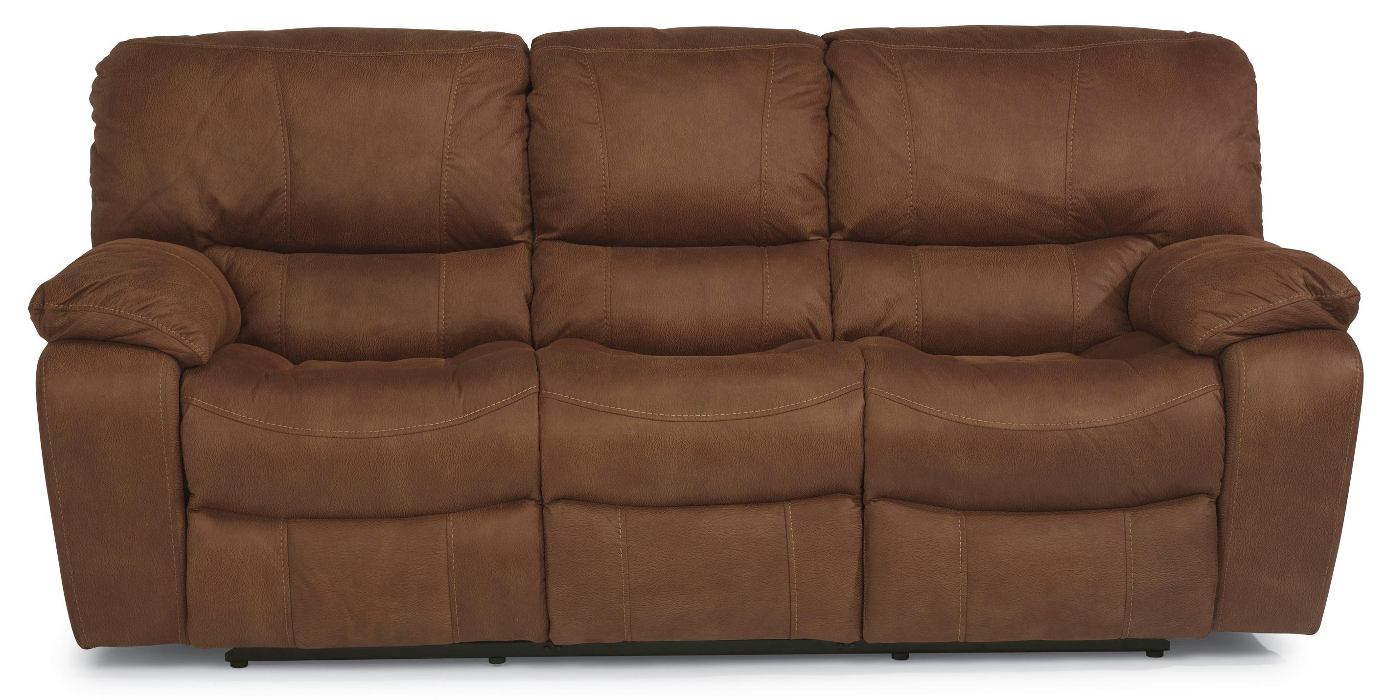 Sofa Express Pineville Nc Flexsteel Latitudes Grandview Reclining Sofa With Plush Pillowed