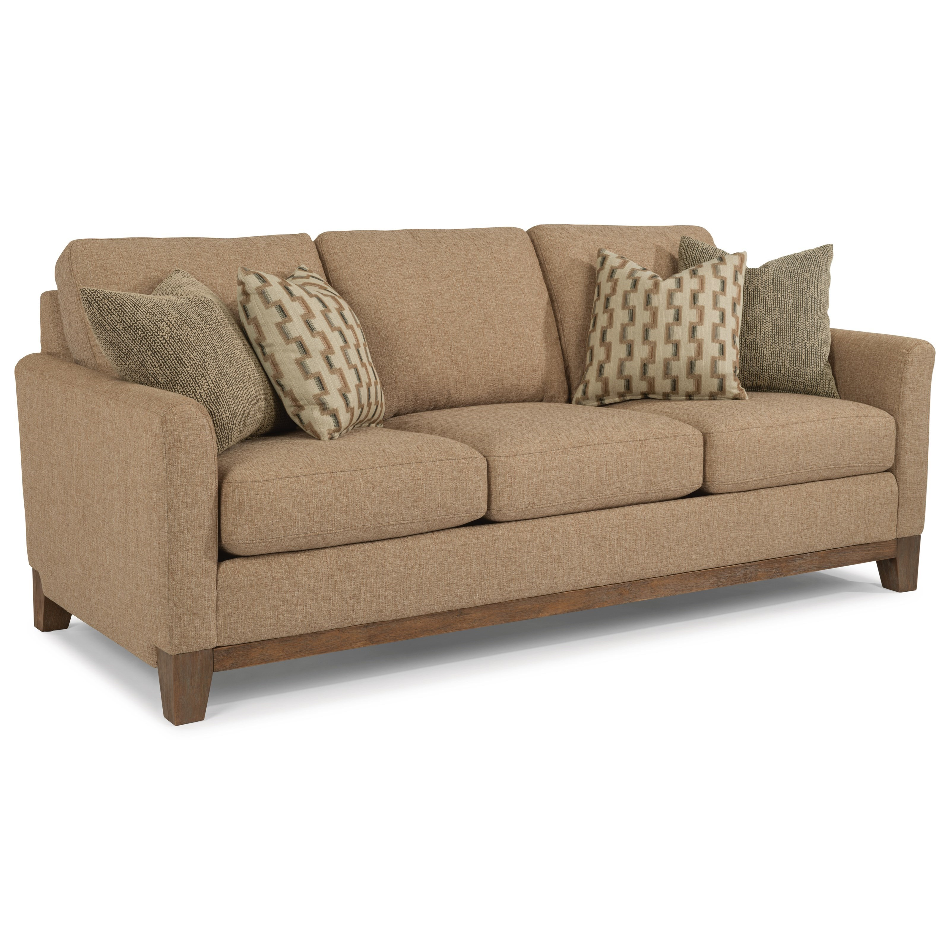 Sofa Arm Covers Dublin Hampton Transitional Sofa With Exposed Wood Base Rail By Flexsteel At Rooms For Less