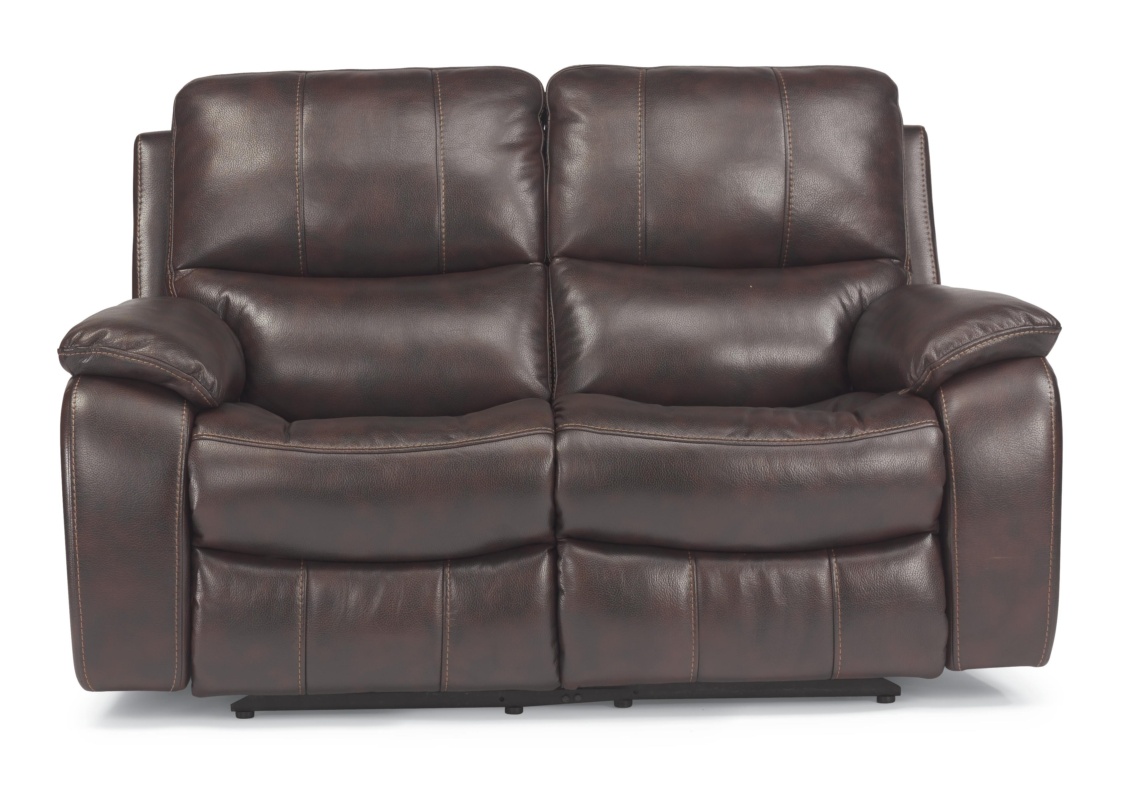Recliner Pillow Latitudes Woodstock Double Power Reclining Love Seat With Pillow Arms By Flexsteel At Dunk Bright Furniture