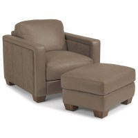 Flexsteel Latitudes-Wyman Contemporary Chair and Ottoman ...