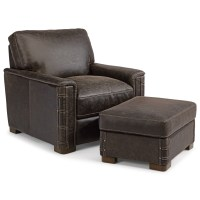 Flexsteel Latitudes - Lomax Rustic Leather Chair and ...