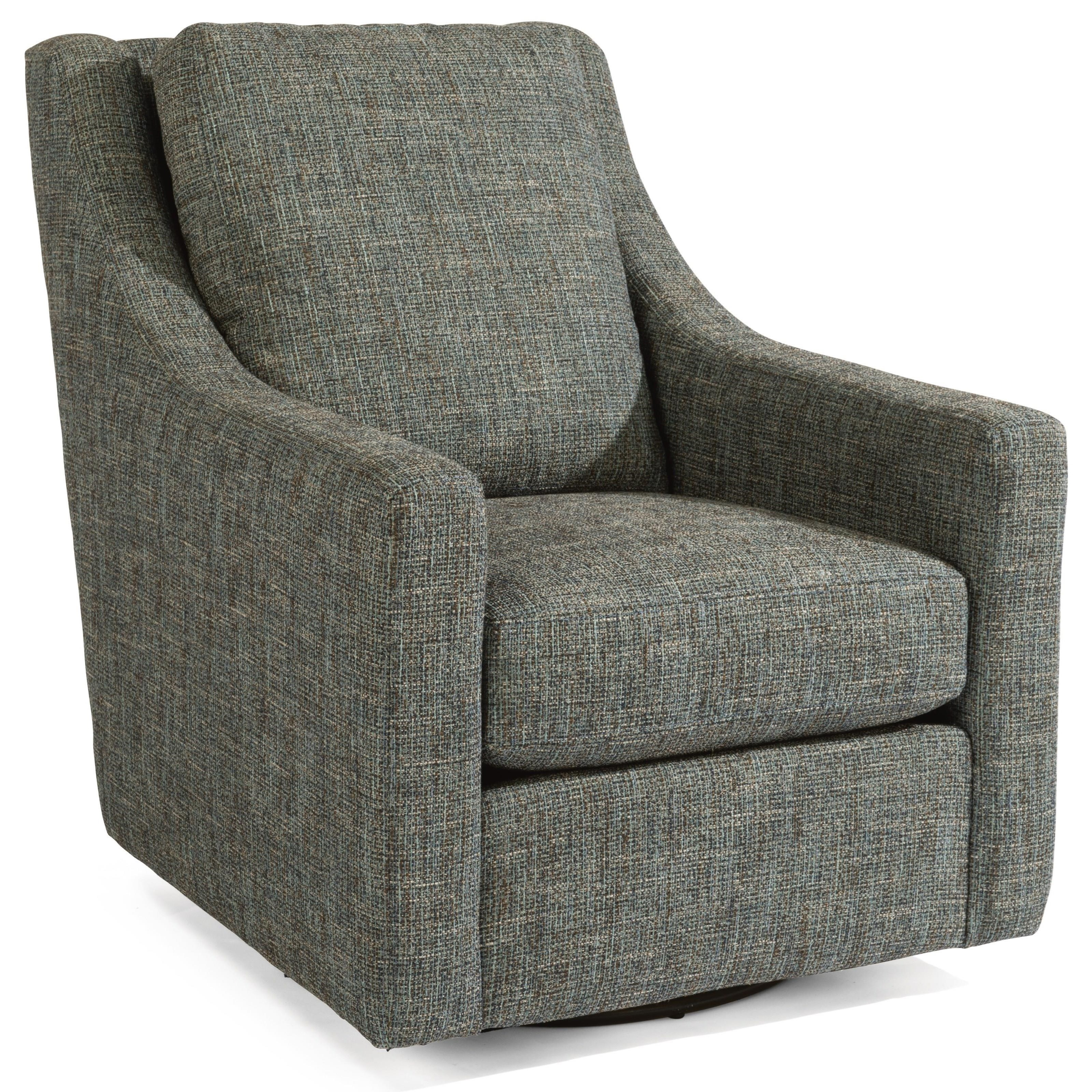 Flexsteel Murph Casual Contemporary Swivel Chair With Loose Pillow Back Conlin S Furniture Upholstered Chairs