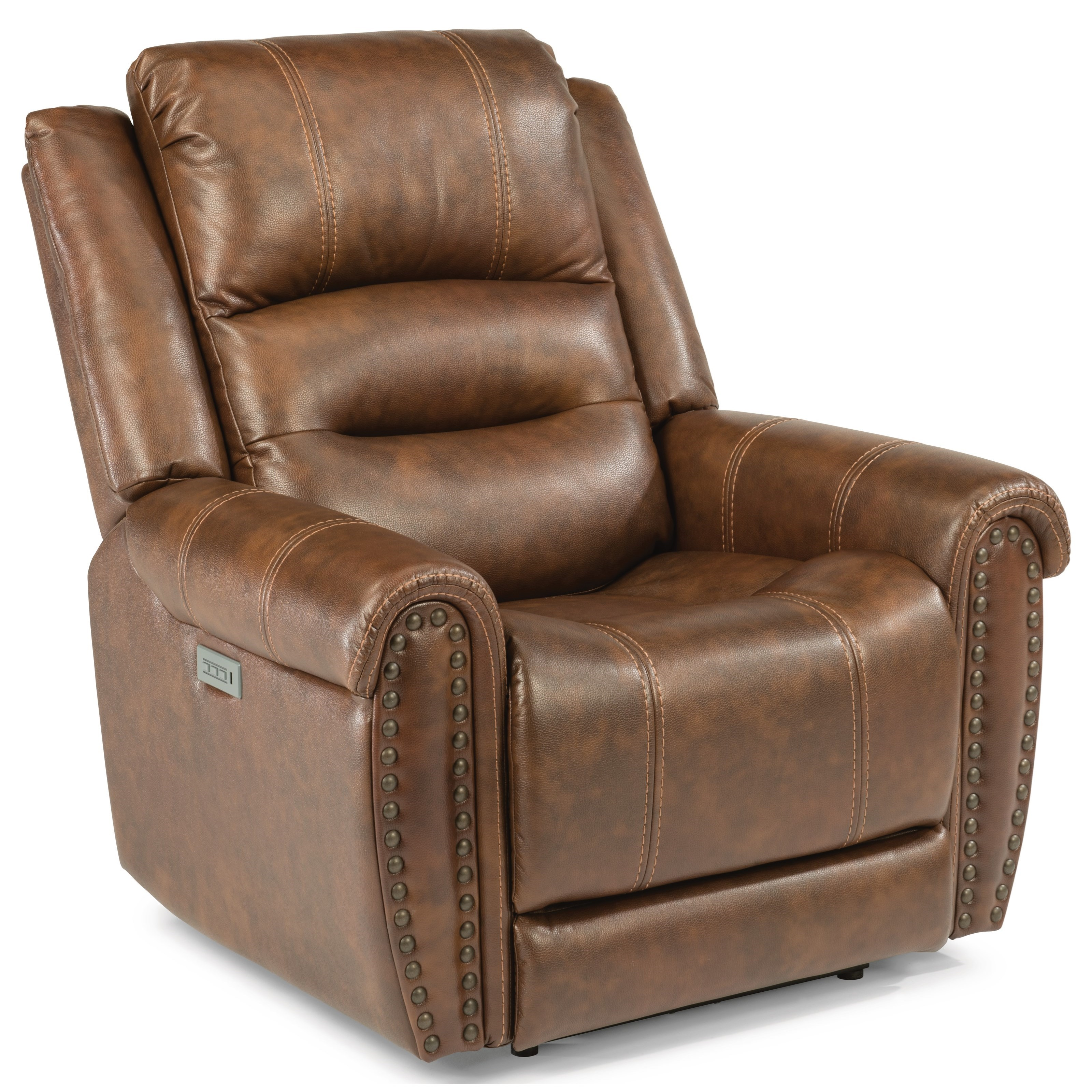 Electric Recliner Leather Chairs Latitudes Oscar Power Recliner With Power Headrest And Lumbar Support By Flexsteel At Dunk Bright Furniture