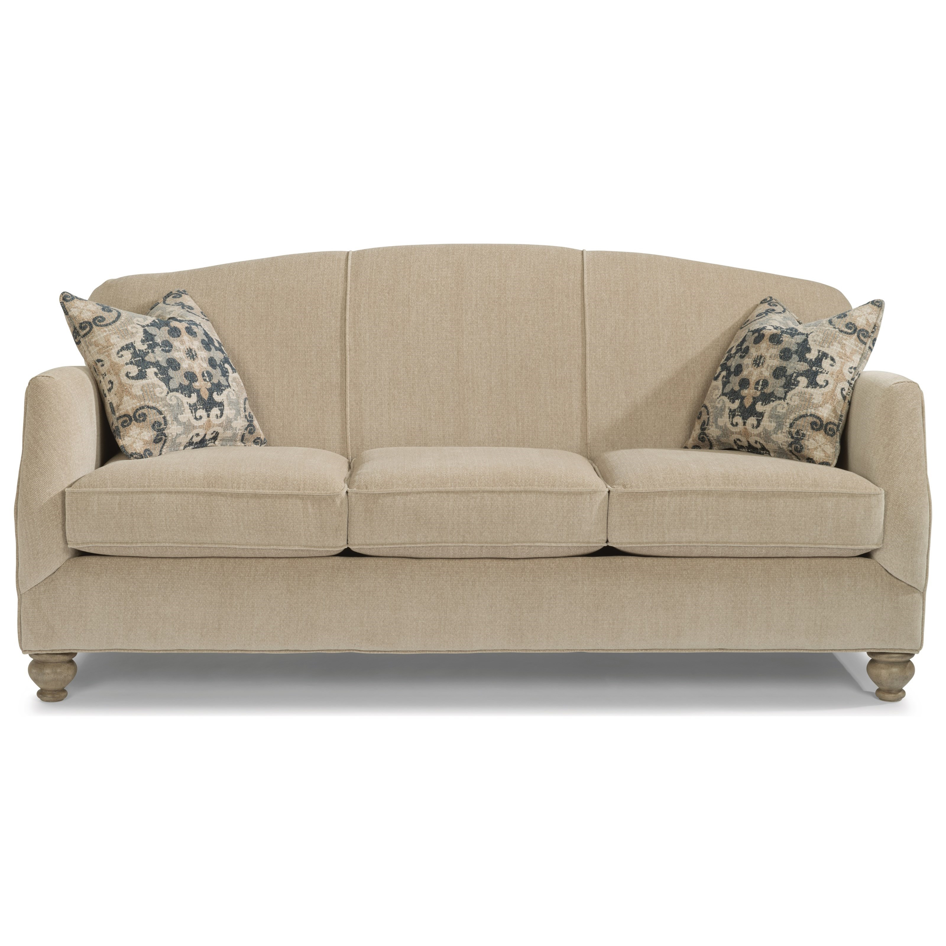 Sofa Arm Covers Dublin Plymouth Transitional Sofa With Bun Feet By Flexsteel At Rooms For Less