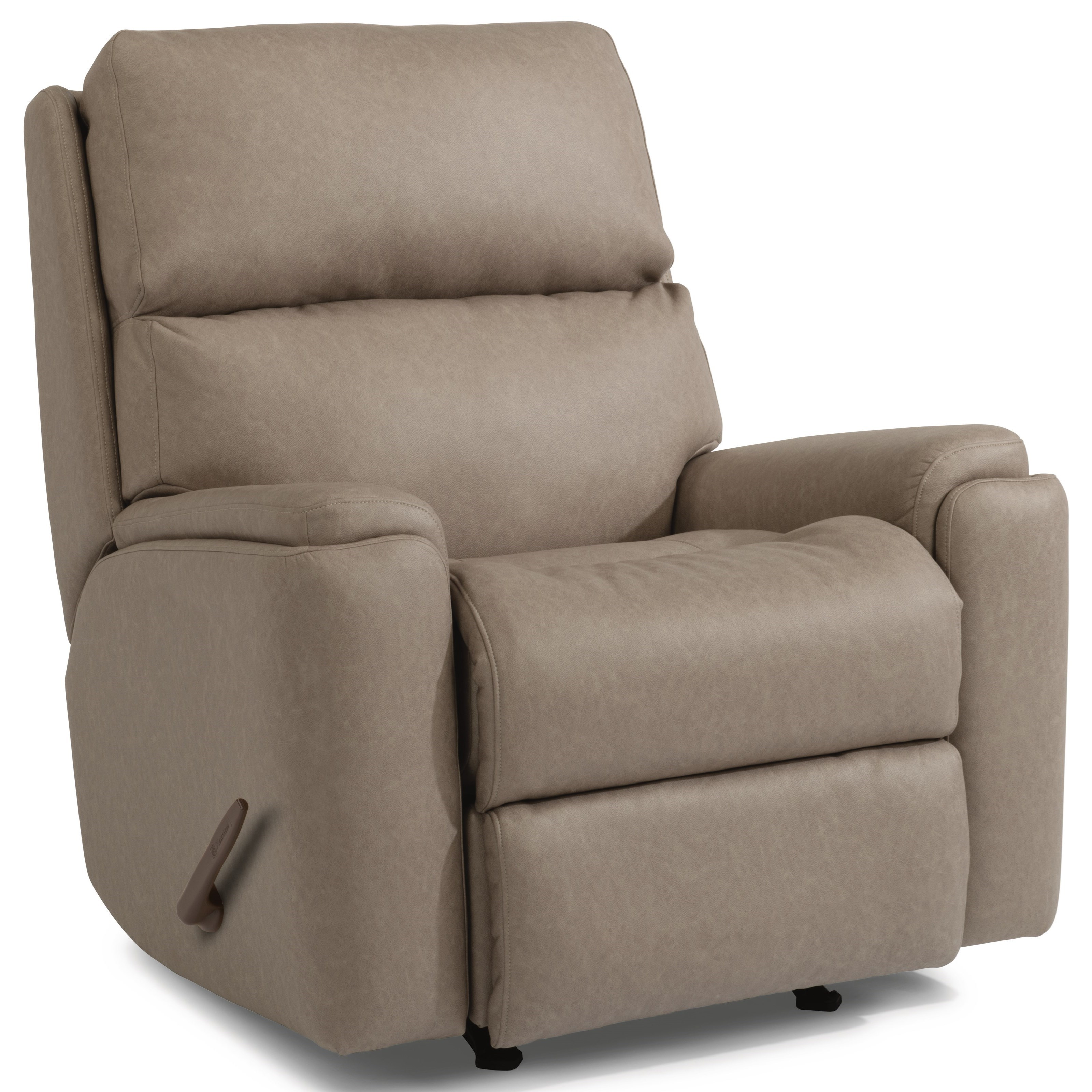 Recliner Pillow Flexsteel Rio Casual Rocking Recliner With Pillow Arms Goffena
