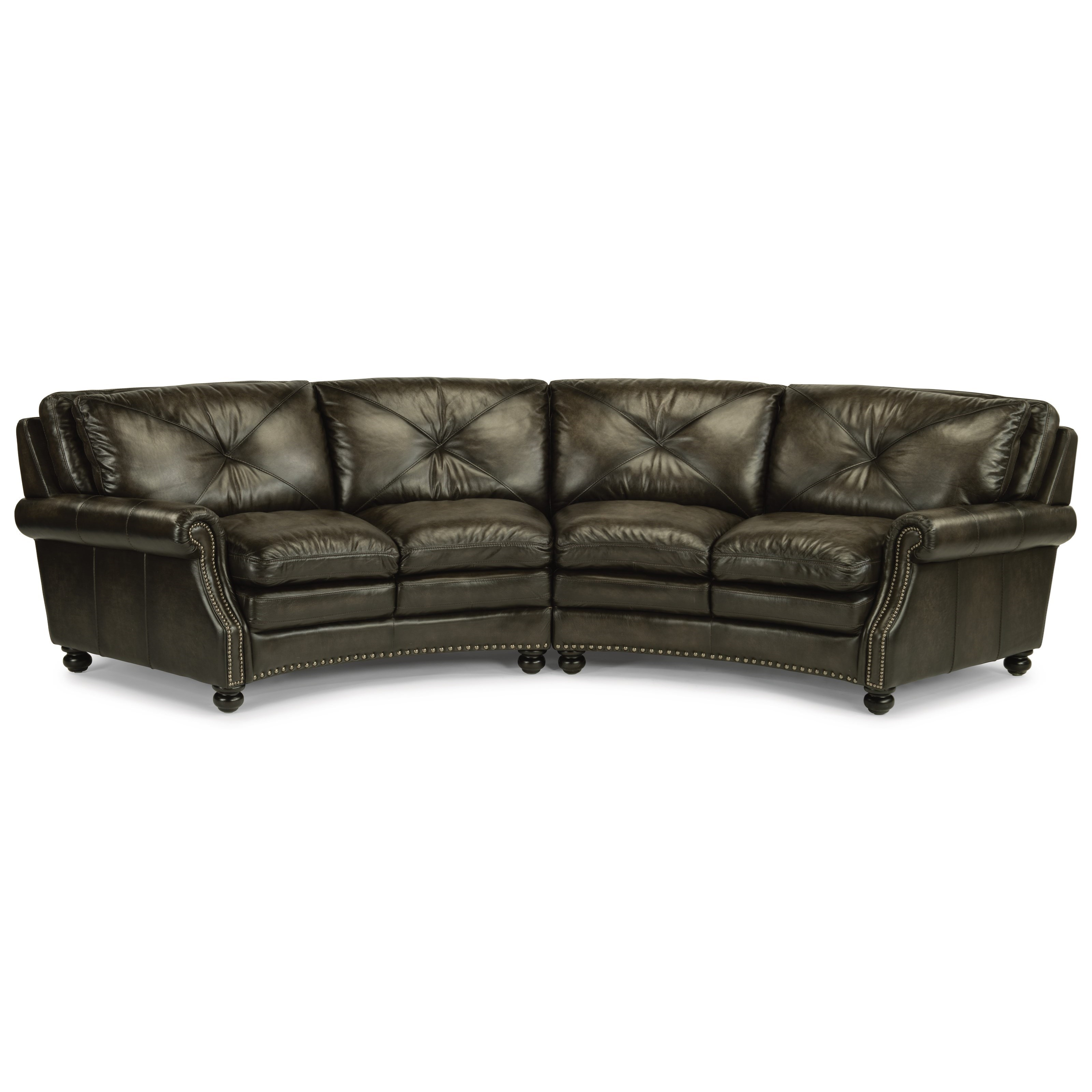 Stressless Sofa Rund Latitudes Suffolk Round Sectional Sofa With Nailhead Trim By Flexsteel At Dunk Bright Furniture