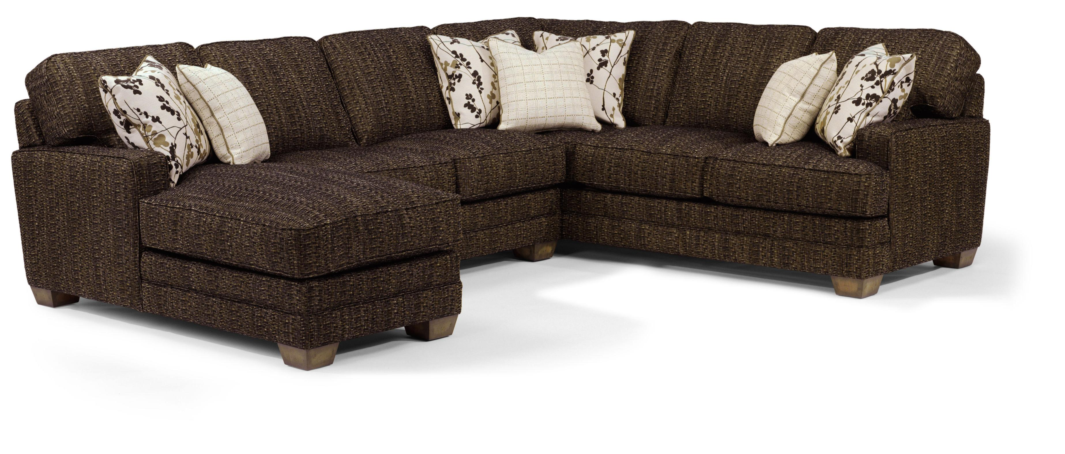 Sofa Express Pineville Nc Flexsteel That S My Style Customizable 3 Piece Sectional Sofa With