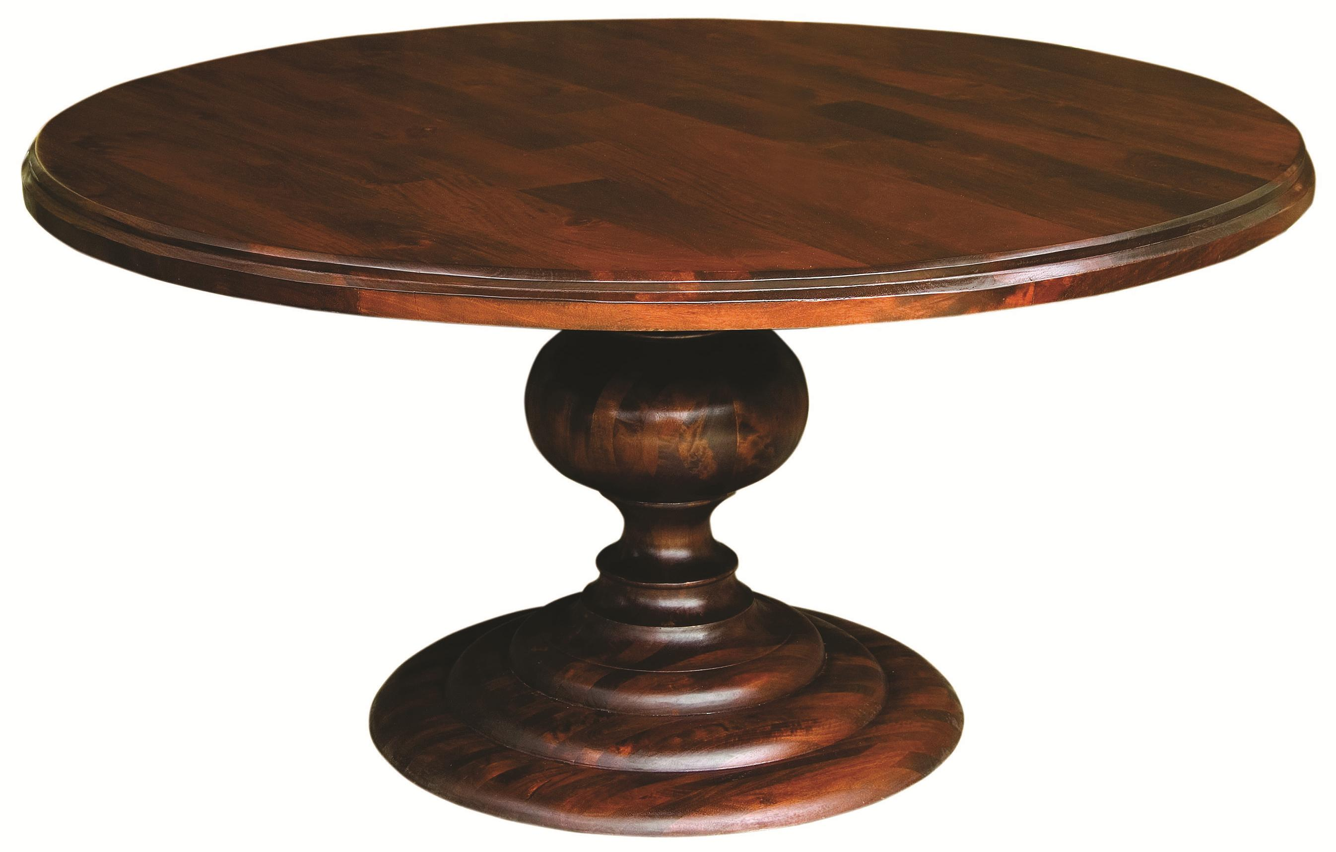 Four Hands Magnolia 60quot Round Dining Table With Pedestal