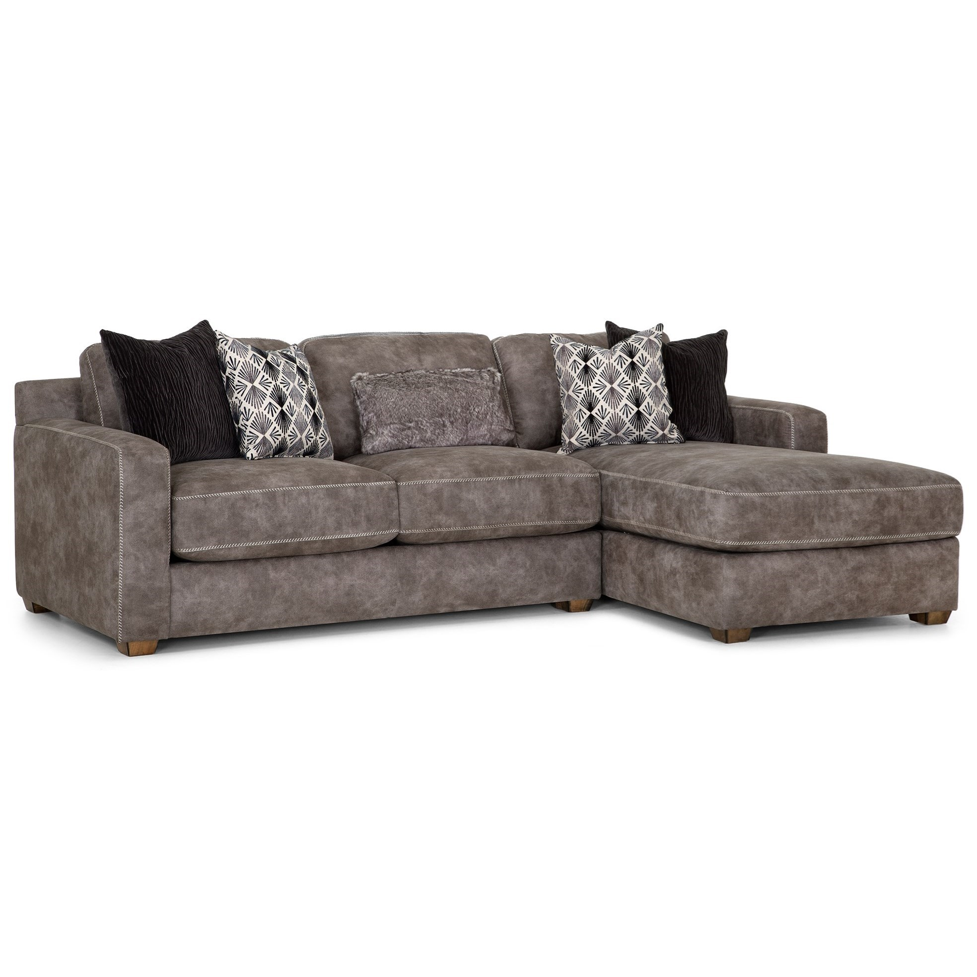 Contemporary Couch Franklin Jameson Contemporary Sofa With Chaise Howell Furniture