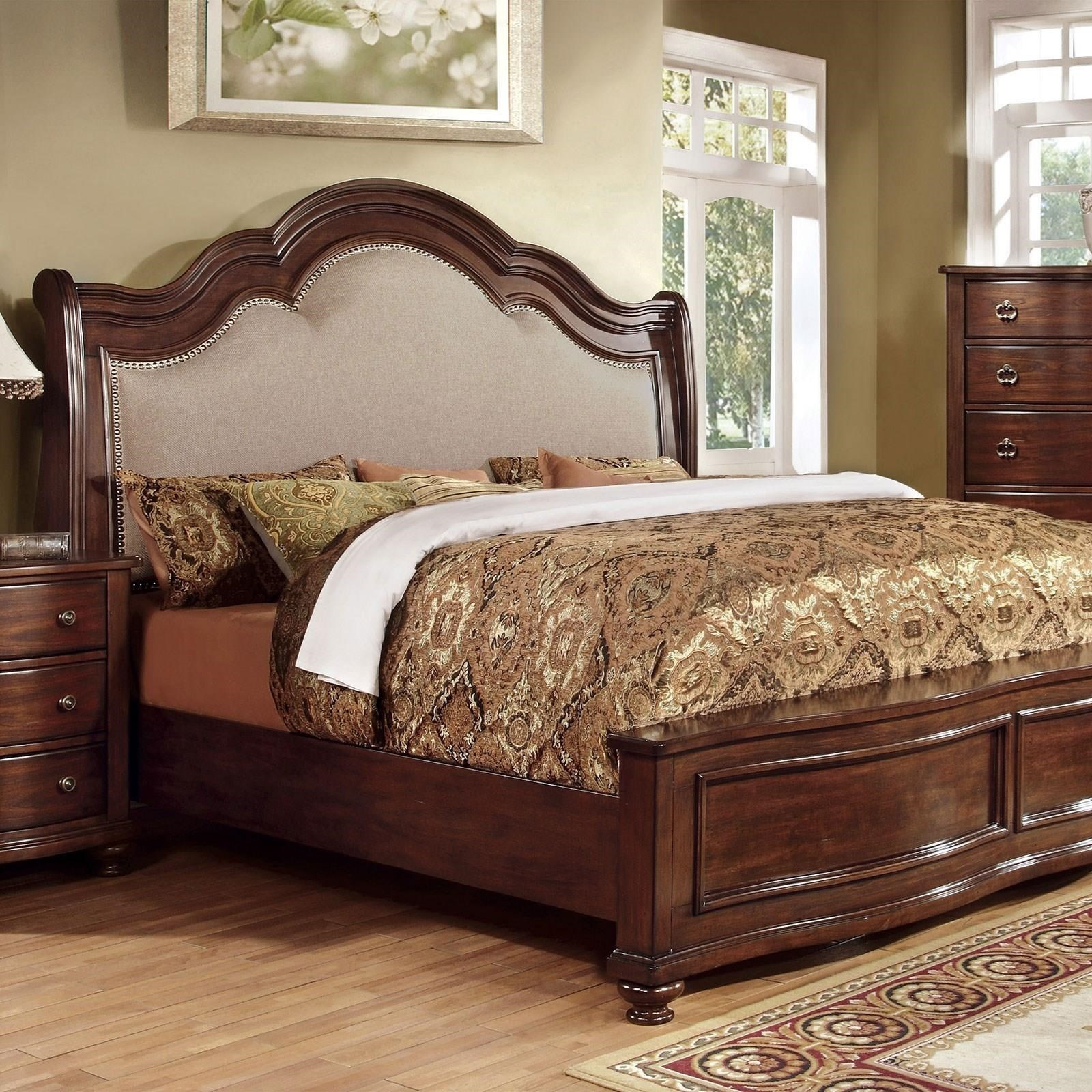 Furniture Of America Bellavista California King Bed Dream Home Interiors Upholstered Beds
