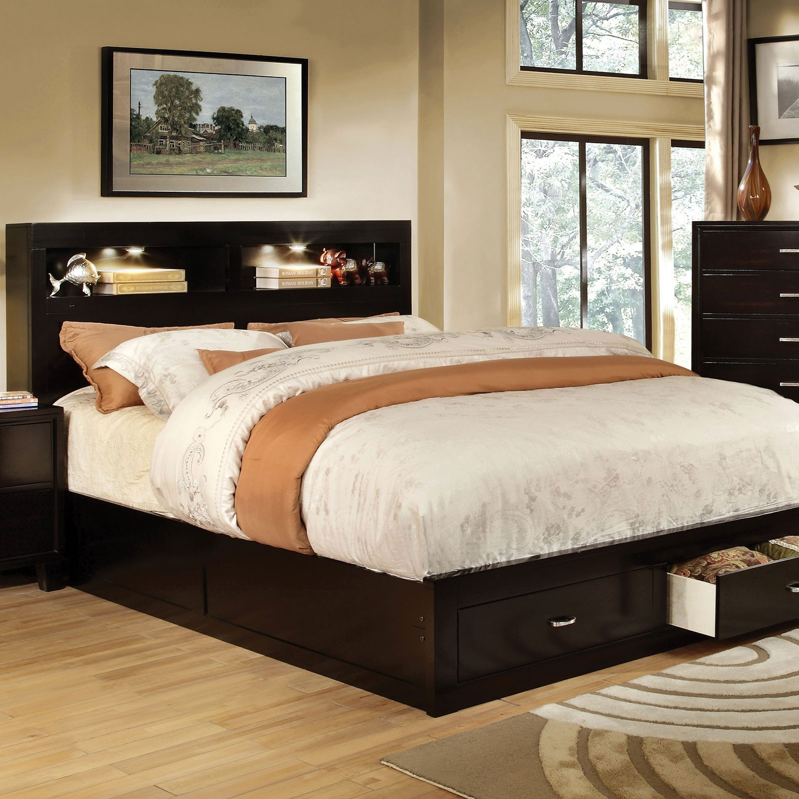 Bookcase Bed Gerico Ii Contemporary Queen Bookcase Bed With Footboard Storage By America At Del Sol Furniture