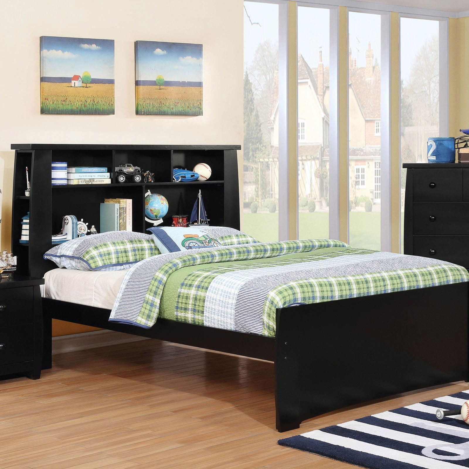 Bookcase Bed Marlee Contemporary Twin Size Bookcase Bed By Furniture Of America At Rooms For Less