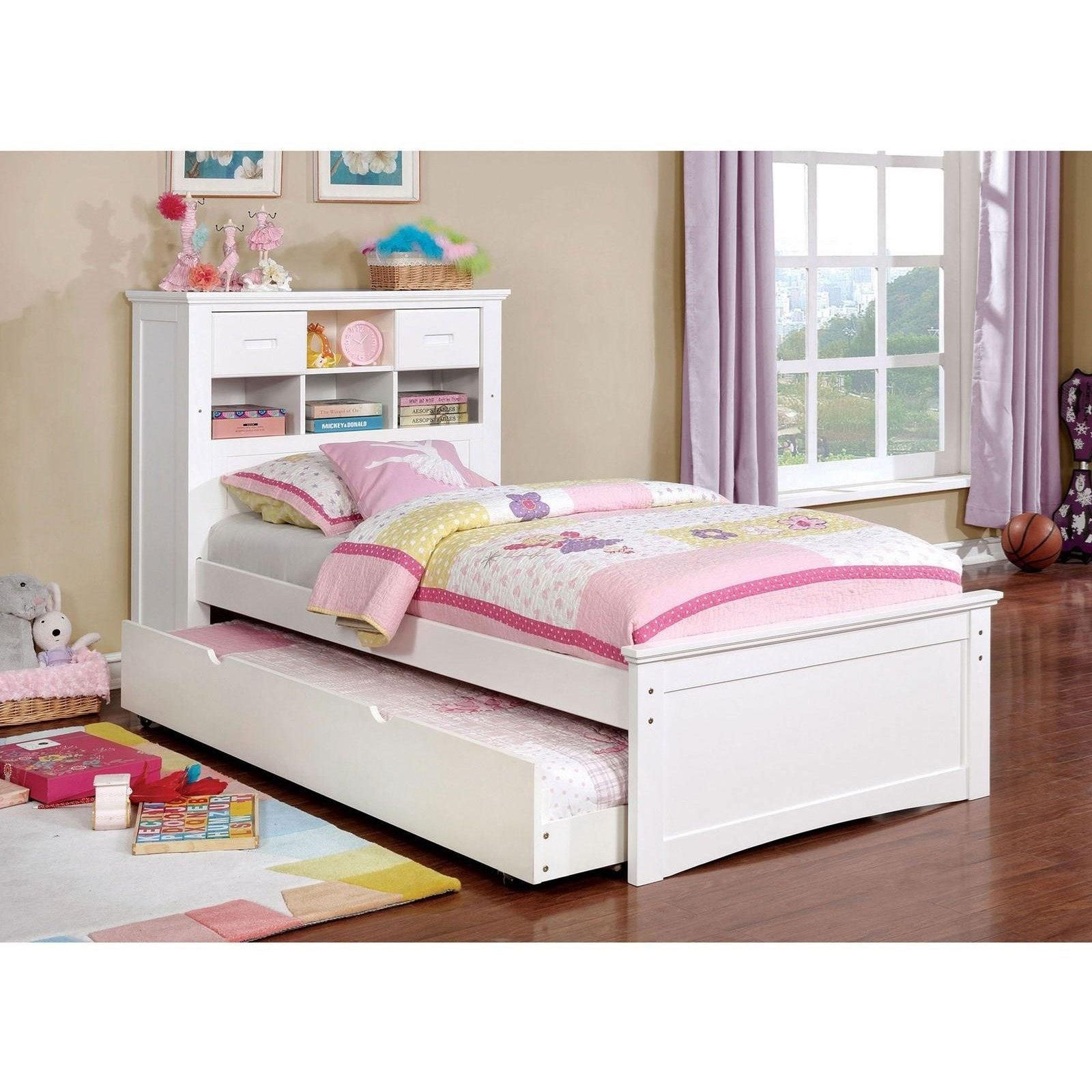 Bookcase Bed Pearland Twin Bookcase Bed With Trundle And Reading Light By Furniture Of America At Rooms For Less