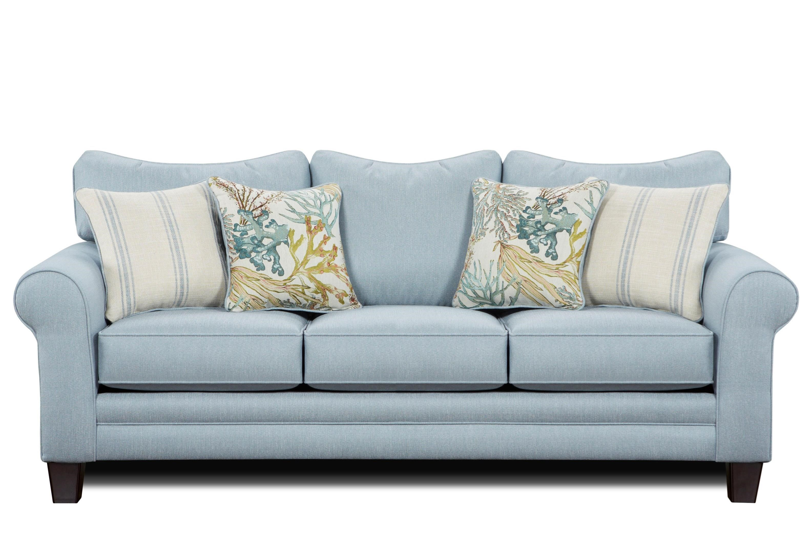 Sofa Bed Couch 1140 Sleeper Sofa W Accent Pillows By Fusion Furniture At Lindy S Furniture Company
