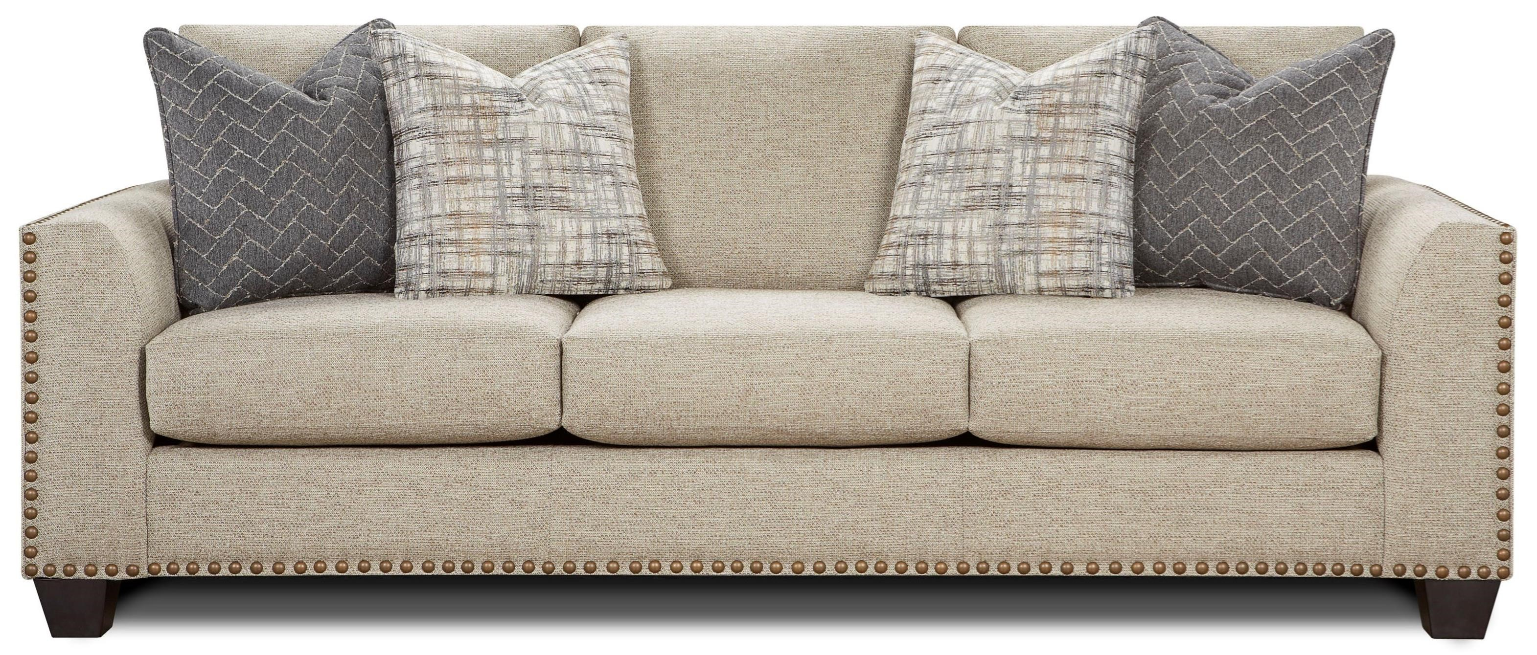 Contemporary Couch 1430 Contemporary Sofa With Nailhead Trim By Fusion Furniture At Lindy S Furniture Company