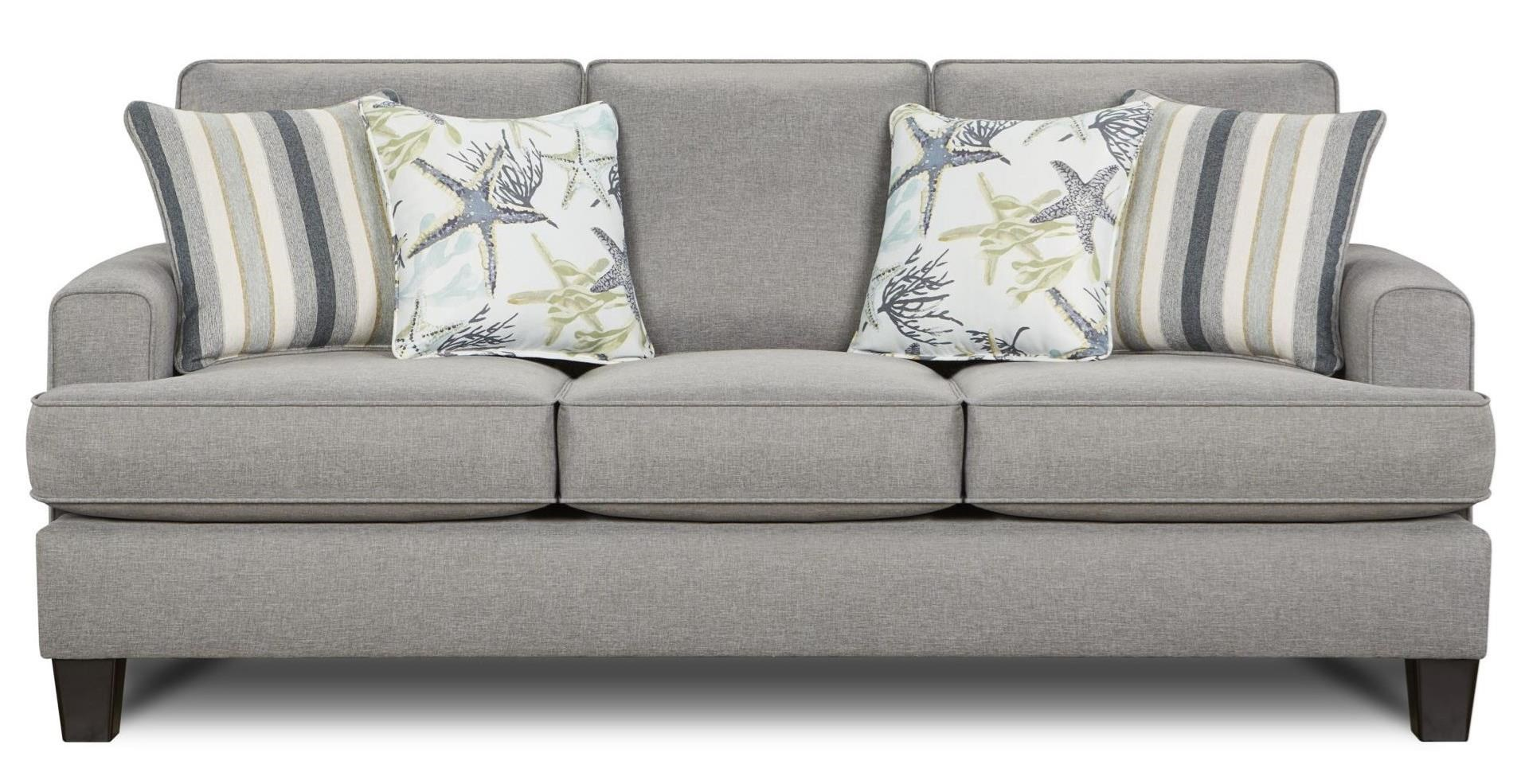 Contemporary Couch 2600 Contemporary Sofa With Small Track Arms By Fusion Furniture At Lindy S Furniture Company