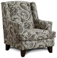 Fusion Furniture 260 Transitional Wing Back Chair | Royal ...