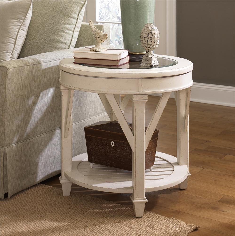 End Table For Living Room Promenade Round End Table By Hammary At Wayside Furniture