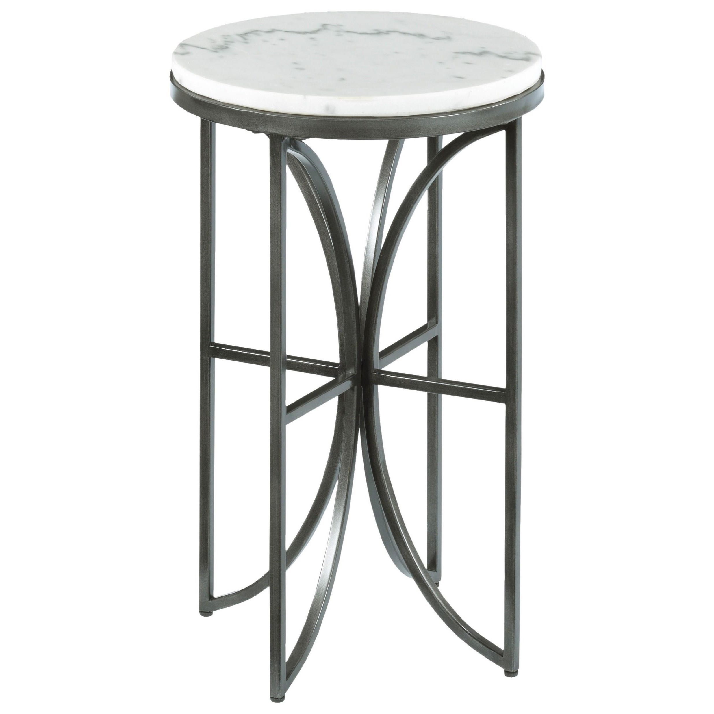 Small Round Glass End Table Hammary Impact Small Round Accent Table With Marble Top Howell