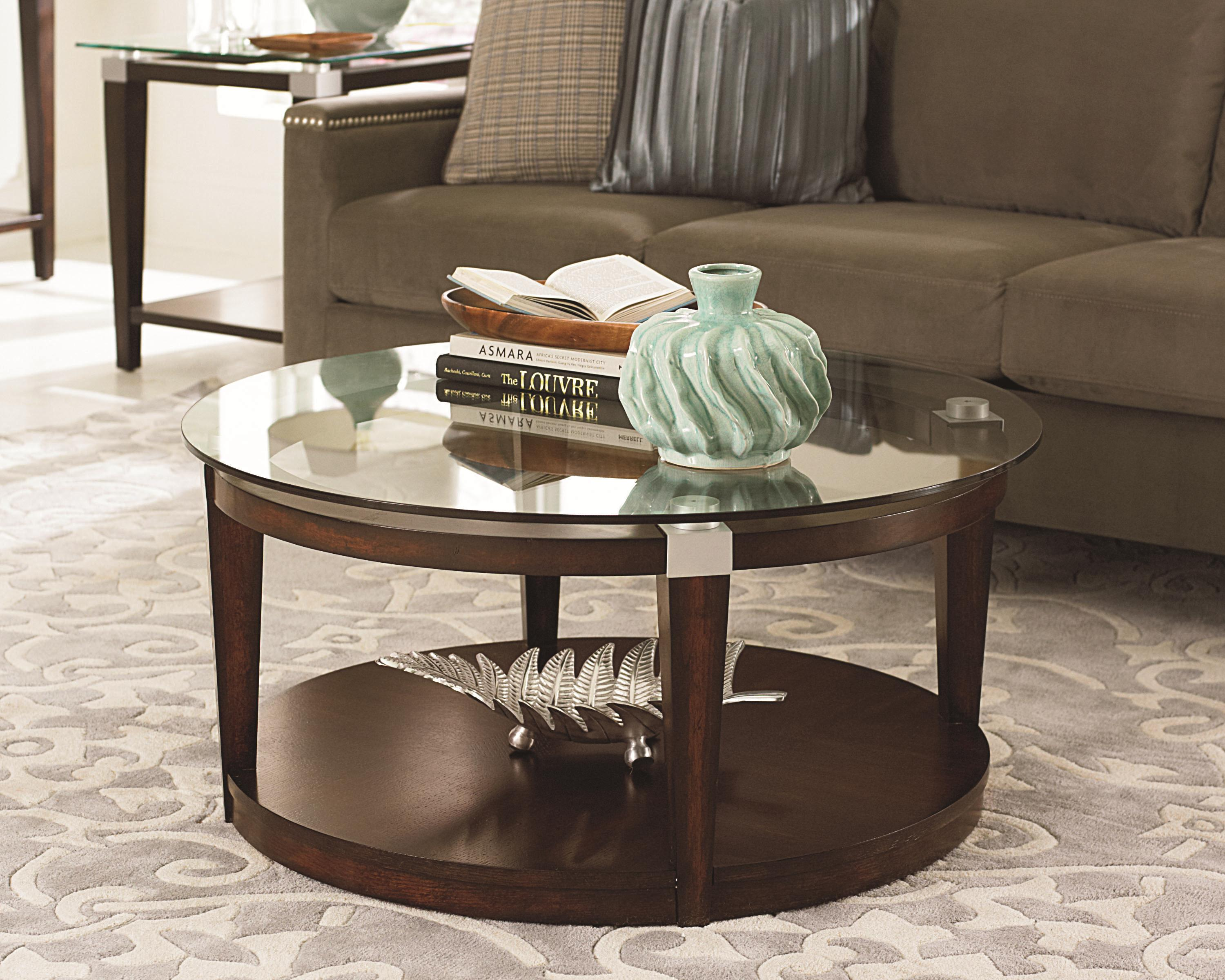 Hammary Solitaire Contemporary Round Coffee Table With
