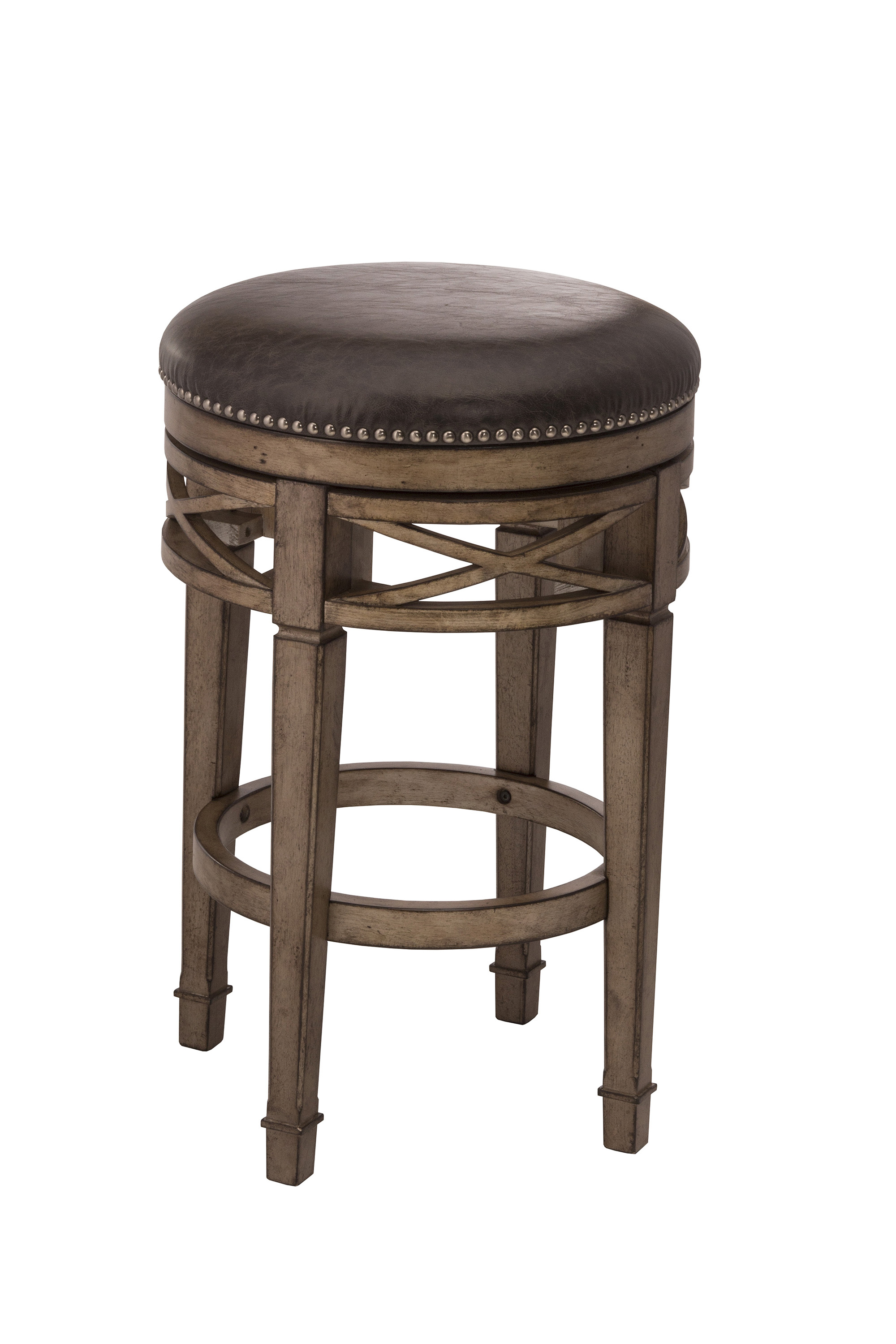 Hillsdale Backless Bar Stools 5609 826 Upholstered Backless Swivel Counter Stool Dunk Bright - Backless Stools