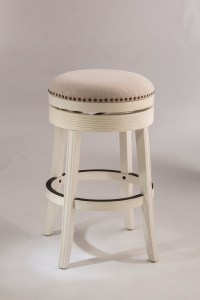 Hillsdale Backless Bar Stools White Backless Swivel Bar ...