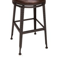 Hillsdale Backless Bar Stools Black Metal With Copper ...
