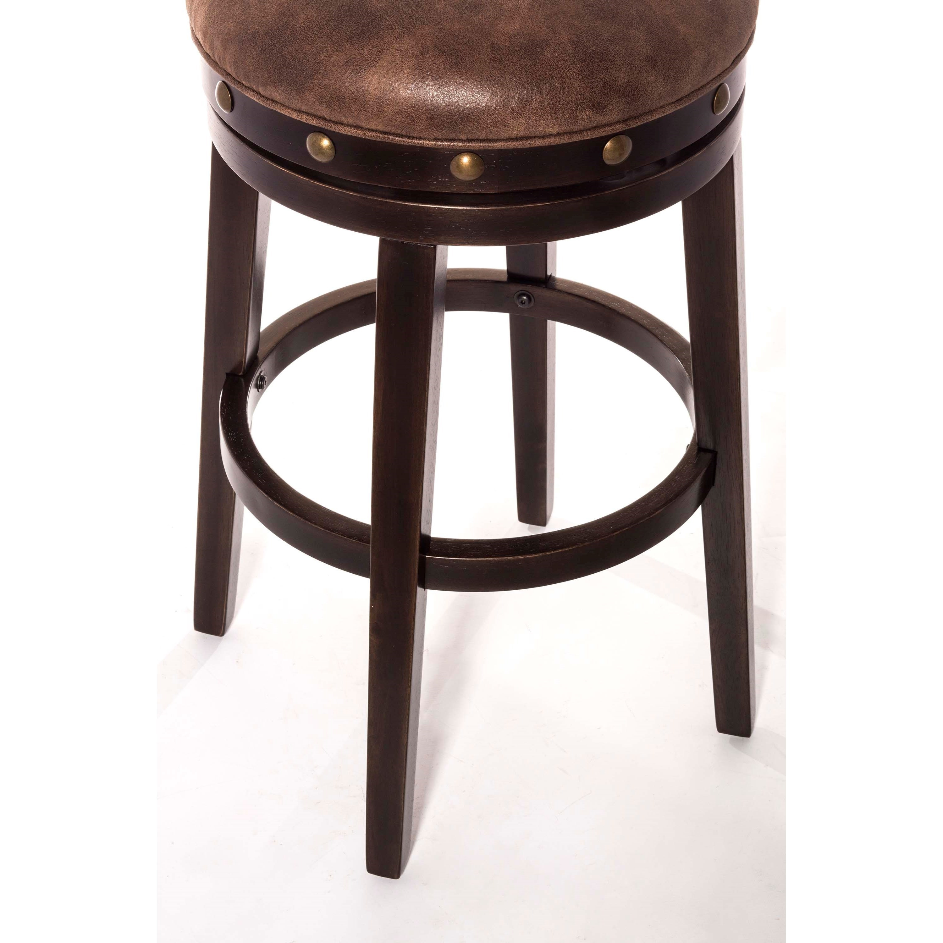 Hillsdale Backless Bar Stools Streamlined Deep Smoke Finish Backless Counter Stool Conlin S - Backless Stools