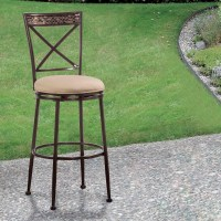 Hillsdale Indoor/Outdoor Stools Swivel Bar Stool with X ...