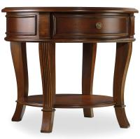 Hooker Furniture Brookhaven Round End Table with One ...