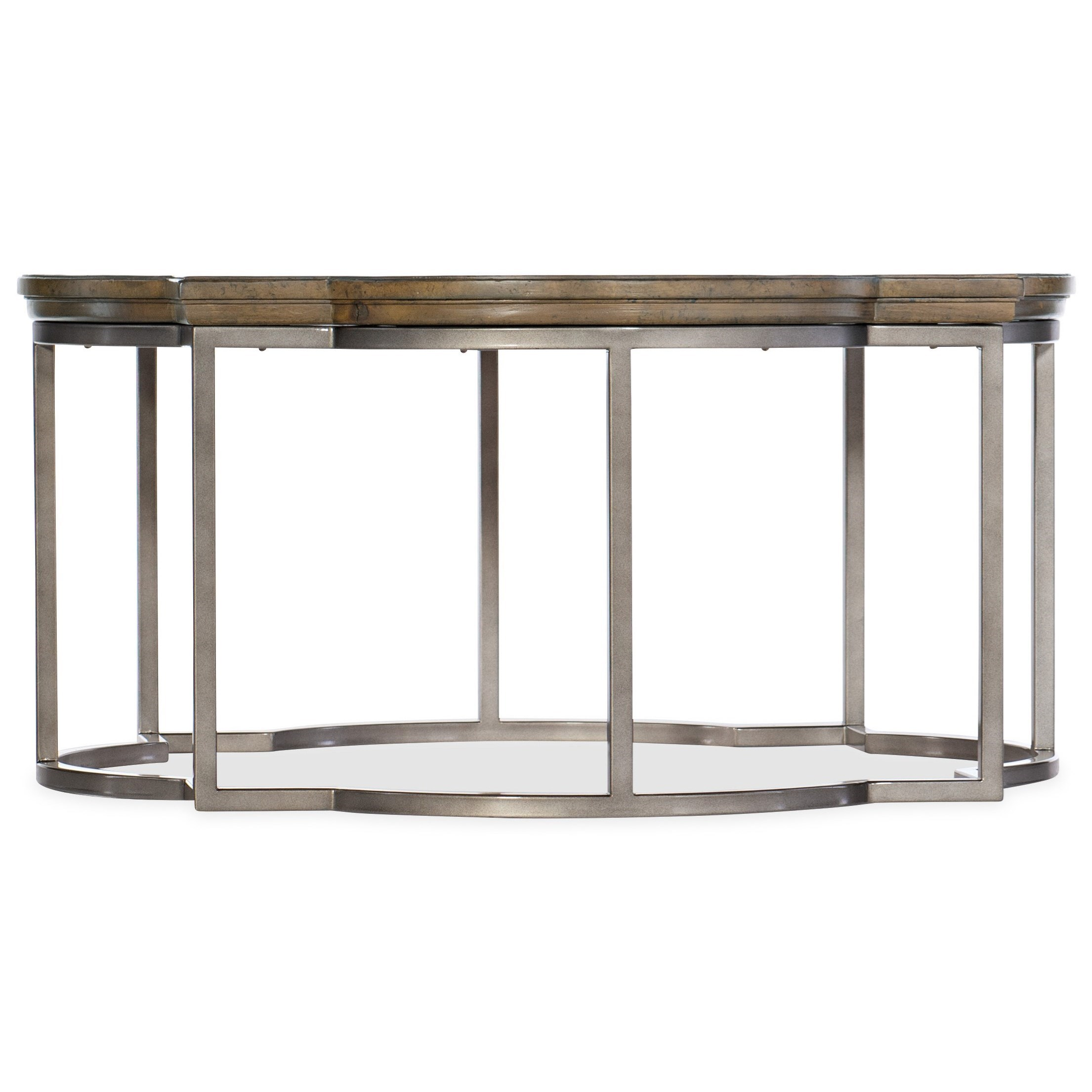 Hamilton Home Montebello Farmhouse Quatrefoil Cocktail Table Sprintz Furniture Cocktail Coffee Tables