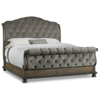 Hamilton Home Rhapsody King Size Tufted Sleigh Bed with ...