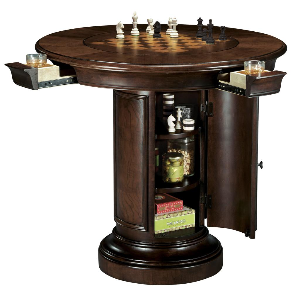 Howard Miller Ithaca Game Pub Table With Storage Base
