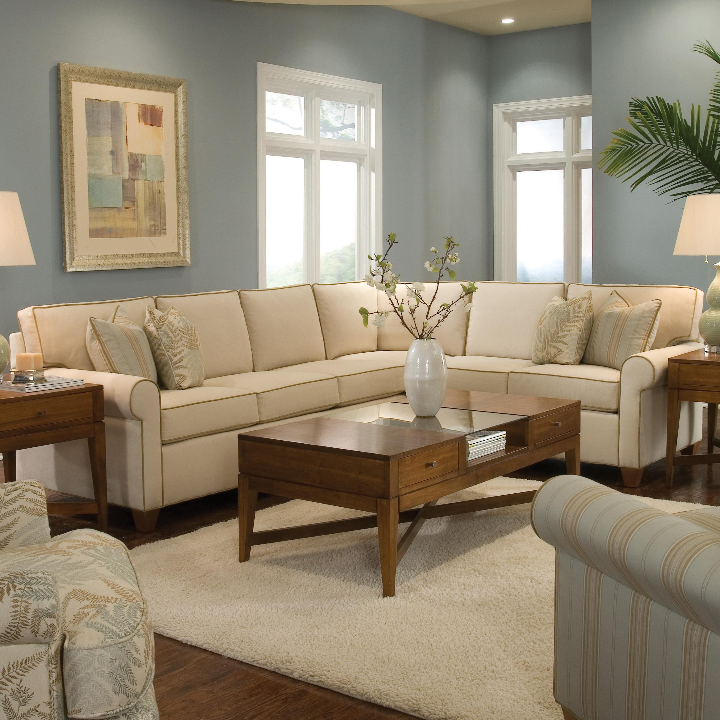 Huntington House Furniture Quality Huntington House 2043 Customizable Transitional Sectional Sofa