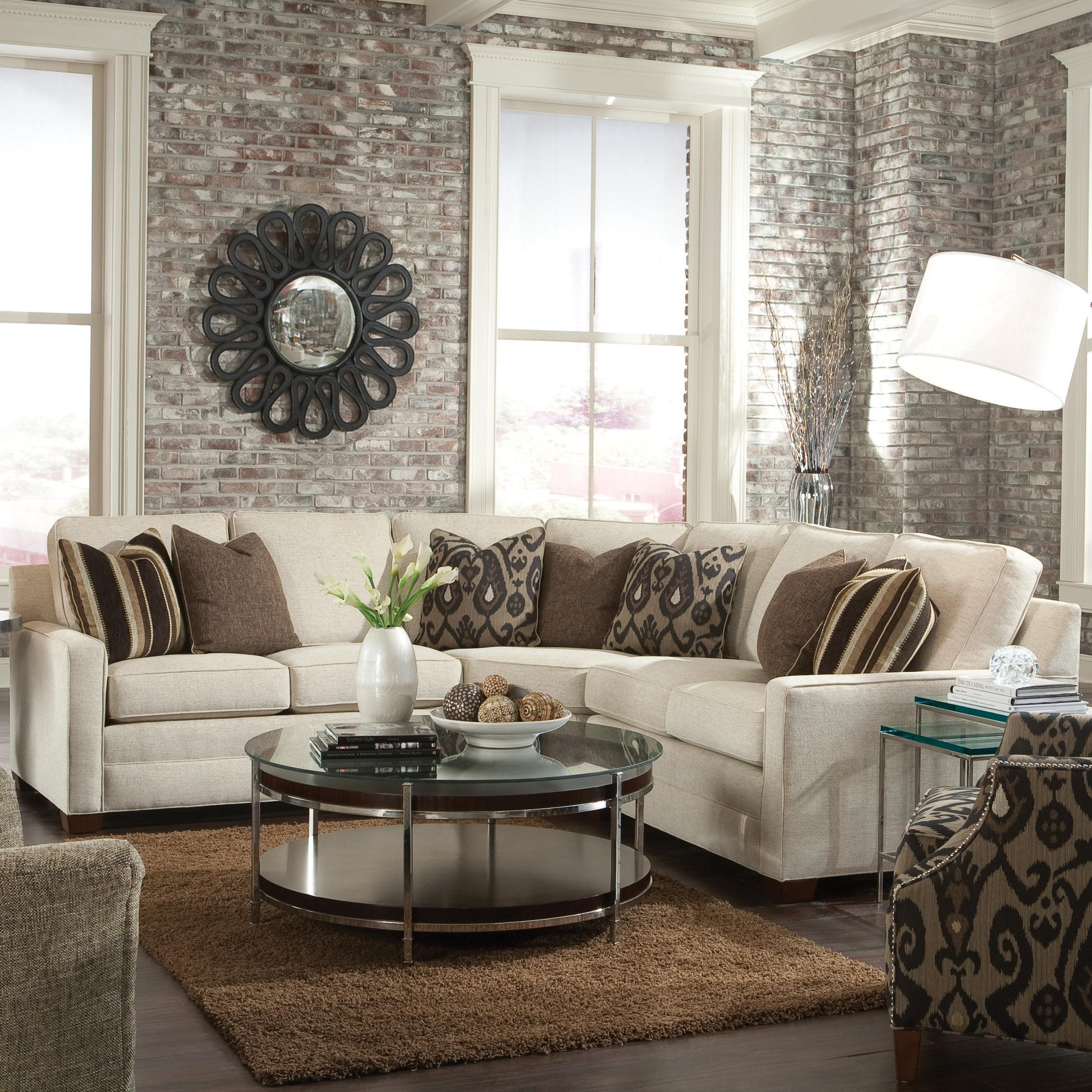 Huntington House Furniture Quality 2062 Customizable Contemporary Sectional Sofa With Wedge Corner By Huntington House At Wayside Furniture