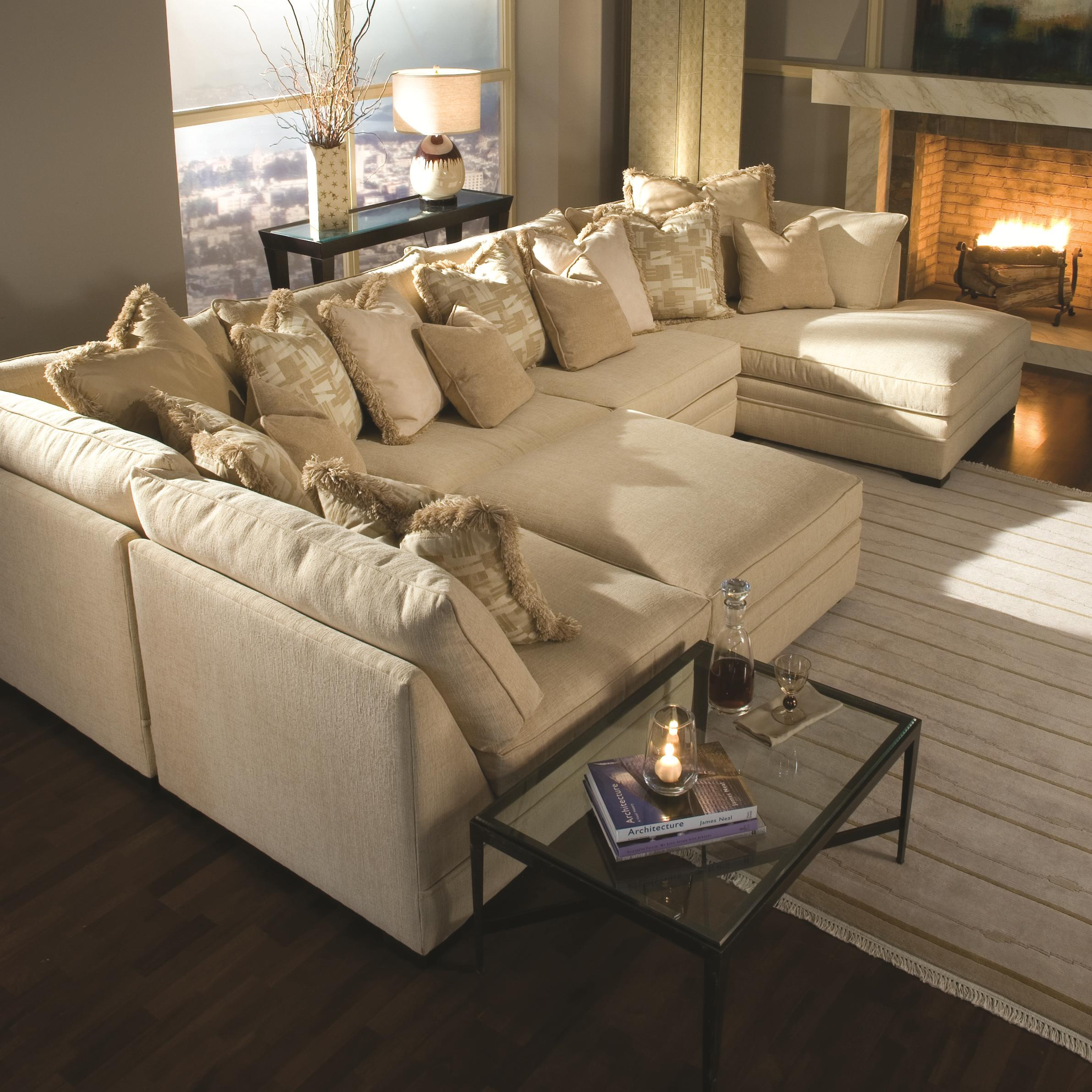 Huntington House Furniture Quality Huntington House 7100 Godfrey Contemporary U Shape Sectional Sofa