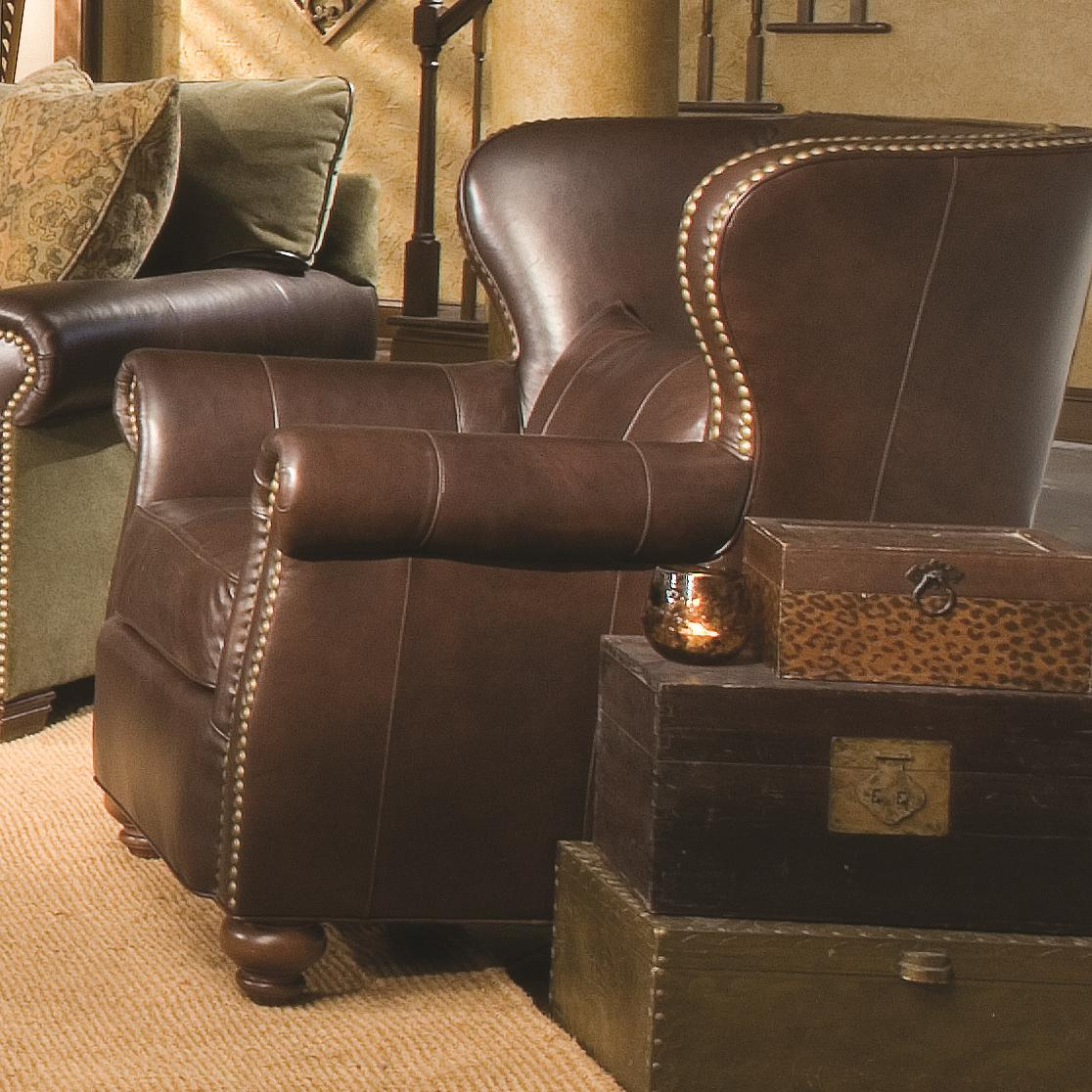 Huntington House Furniture Quality Huntington House 7107 Traditional Wing Chair With Nailhead Trim