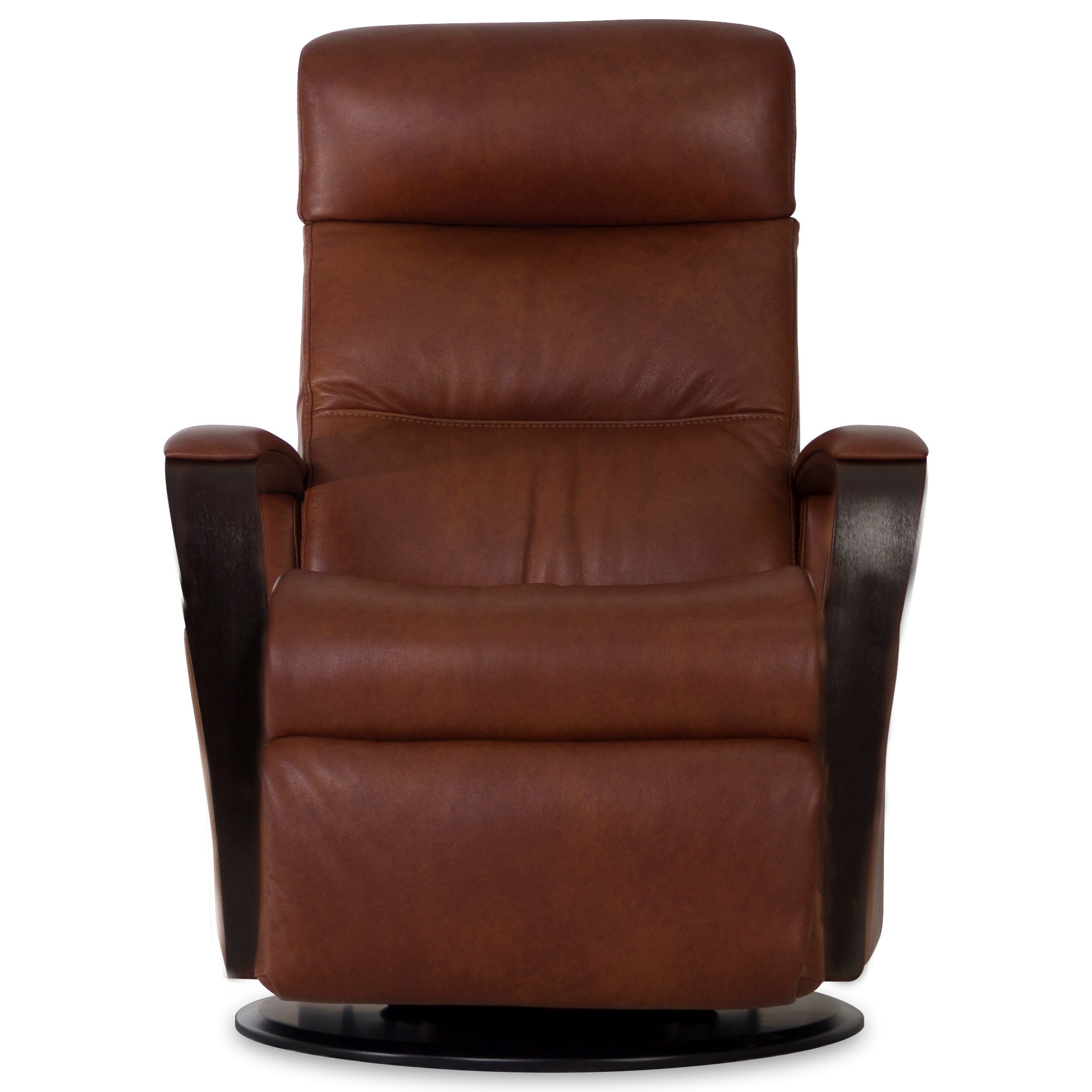 Vendor 508 Recliners Rg365 Modern Peak Recliner Relaxer With Exposed Wood Arms Becker Furniture Three Way Recliners