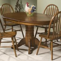 Intercon Classic Oak Single Pedestal Round Dining Table ...