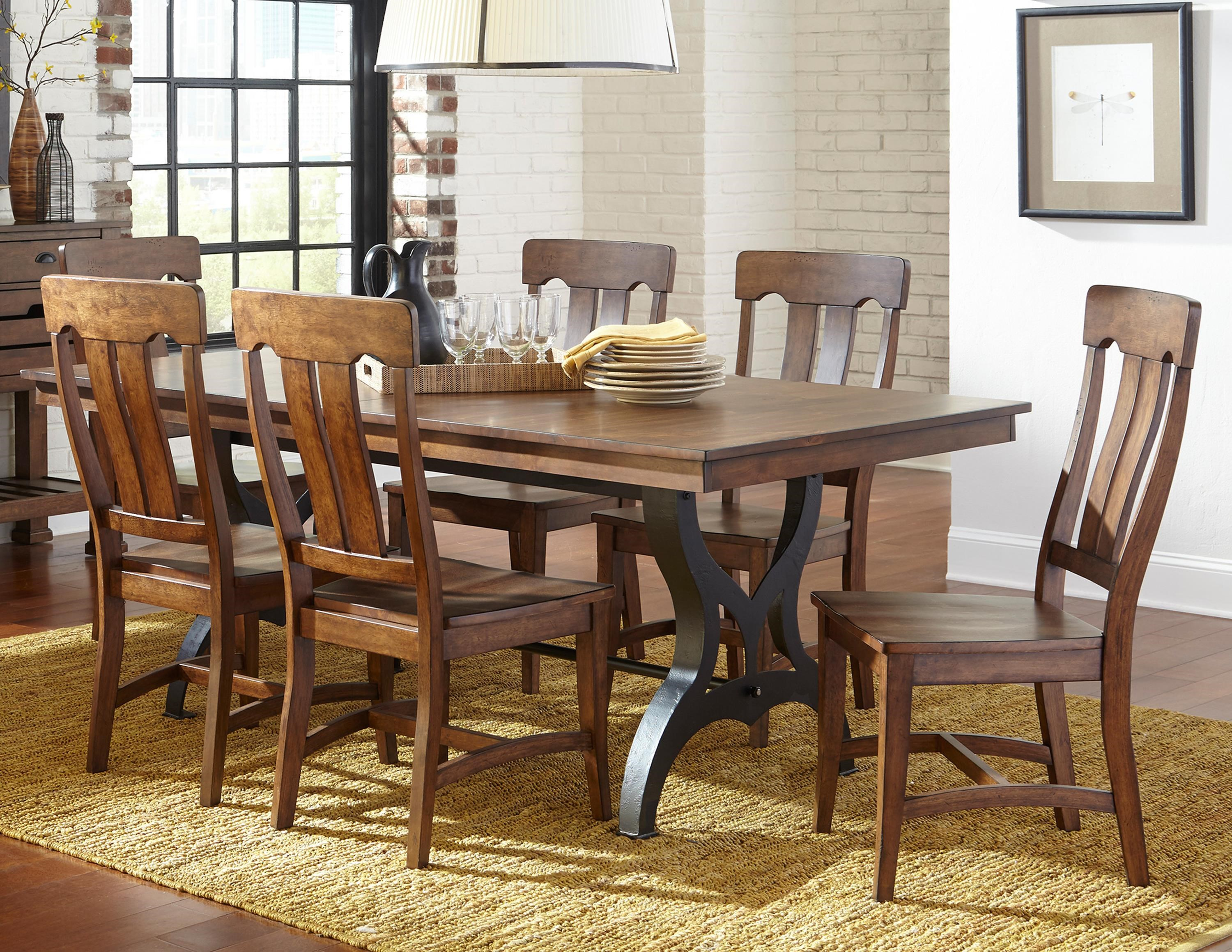 Breakfast Room Tables The District 5 Piece Table Chair Set With Leaf By Intercon At Wayside Furniture