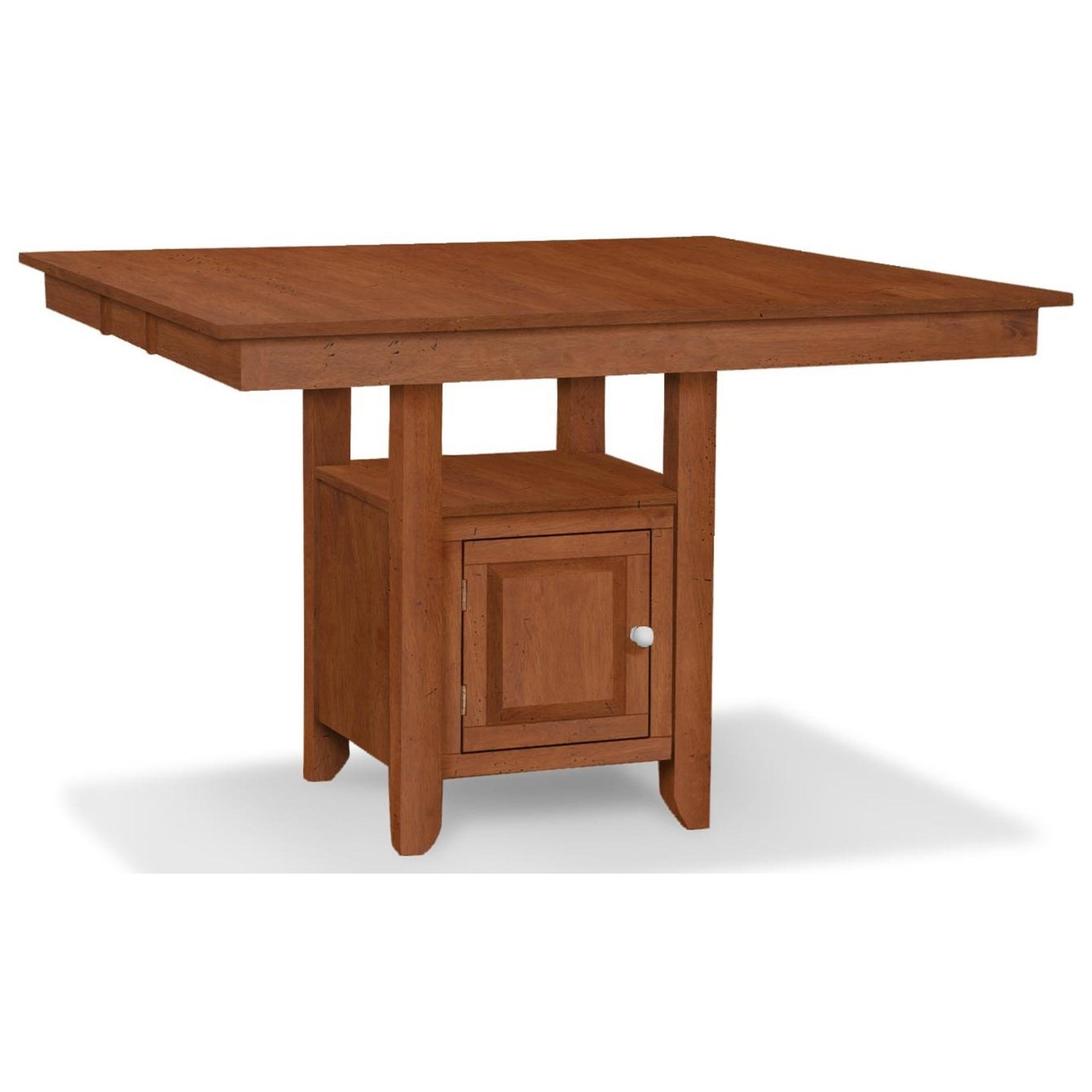 John Thomas Select Dining T 4254xbg T Hd641 Gathering Height Table With Pedestal Storage Baer S Furniture Pub Tables