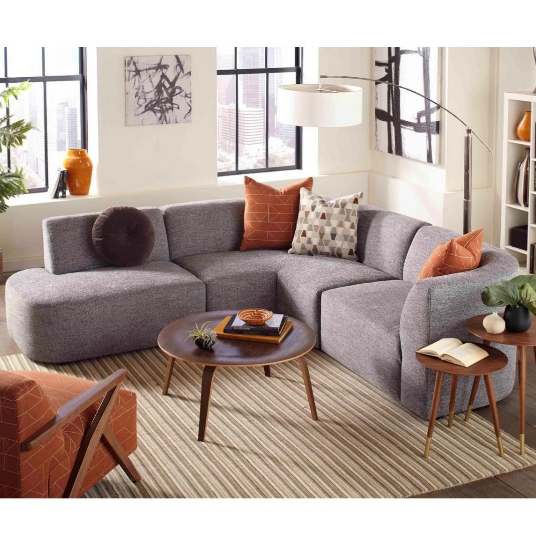 Jonathan Louis Nyla Modern 3 Piece Sectional Sofa With Bumper Chaise Fashion Furniture Sectional Sofas