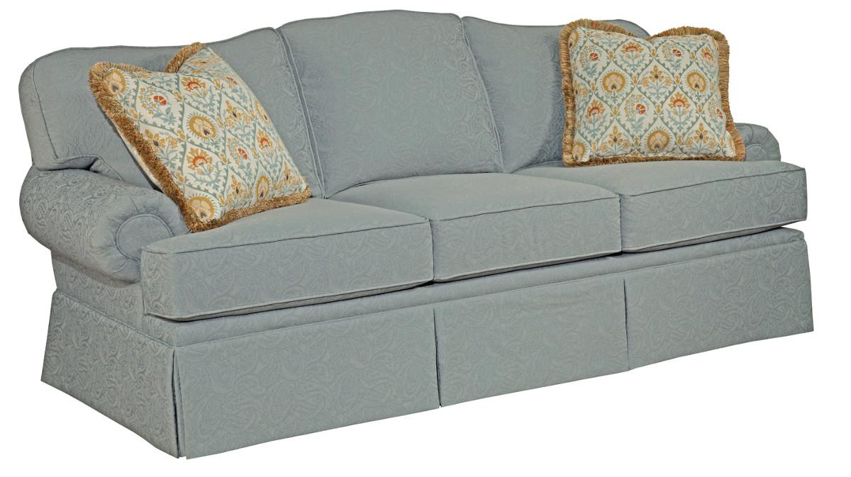 Sofa Test Kincaid Furniture Baltimore 616 86 Traditional Sofa With Rolled