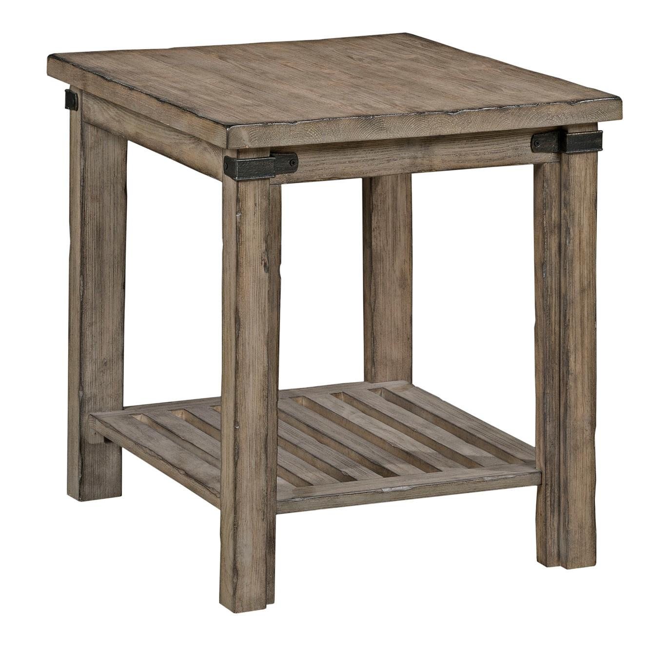 Rustic Wood End Table Foundry Rustic Weathered Gray End Table By Kincaid Furniture At Lindy S Furniture Company