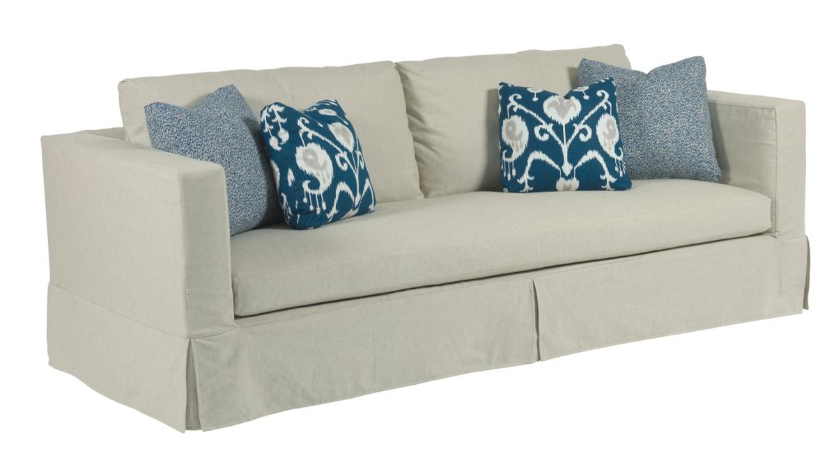 Sofa Take Home Today Kincaid Furniture Sydney 651 96 Modern Slipcover Sofa With Kick