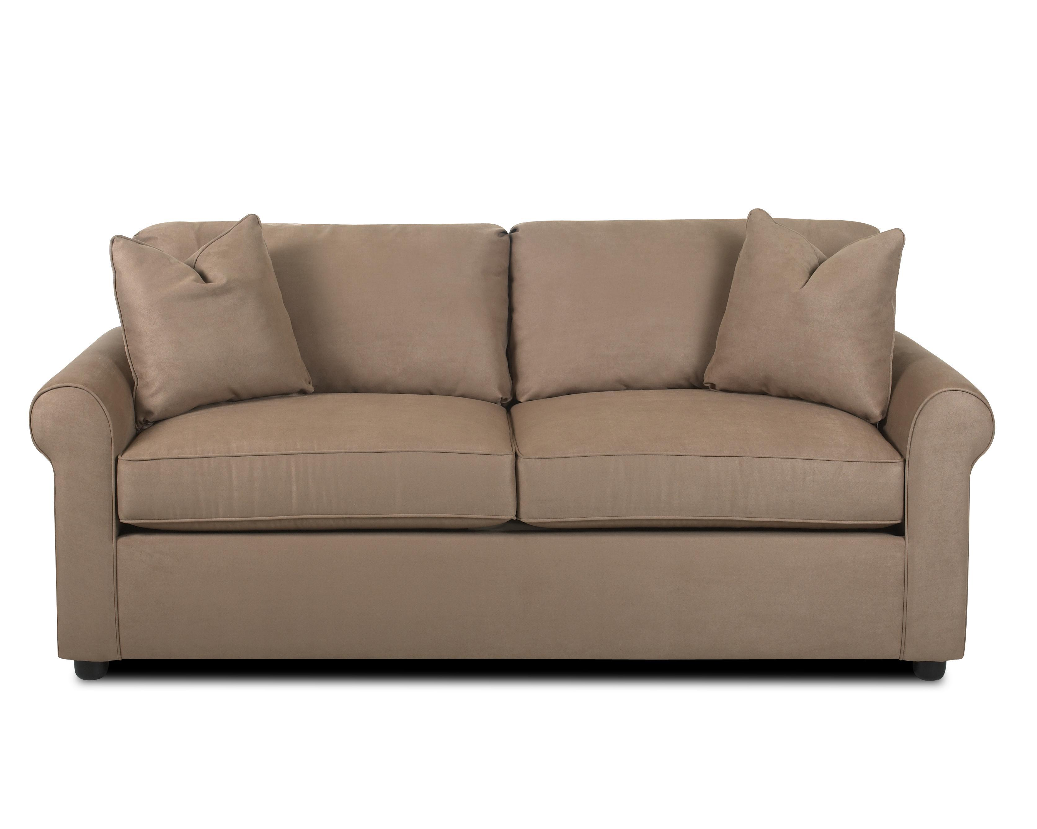 Klaussner Brighton Upholstered Sofa With Rolled Arms