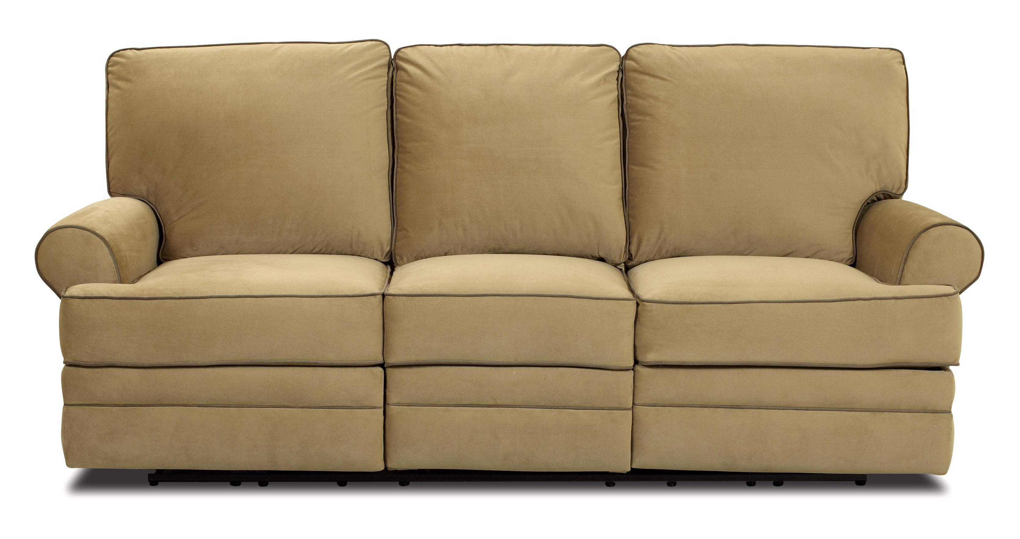 Sofa With Recliner Belleview Transitional Dual Reclining Sofa By Klaussner