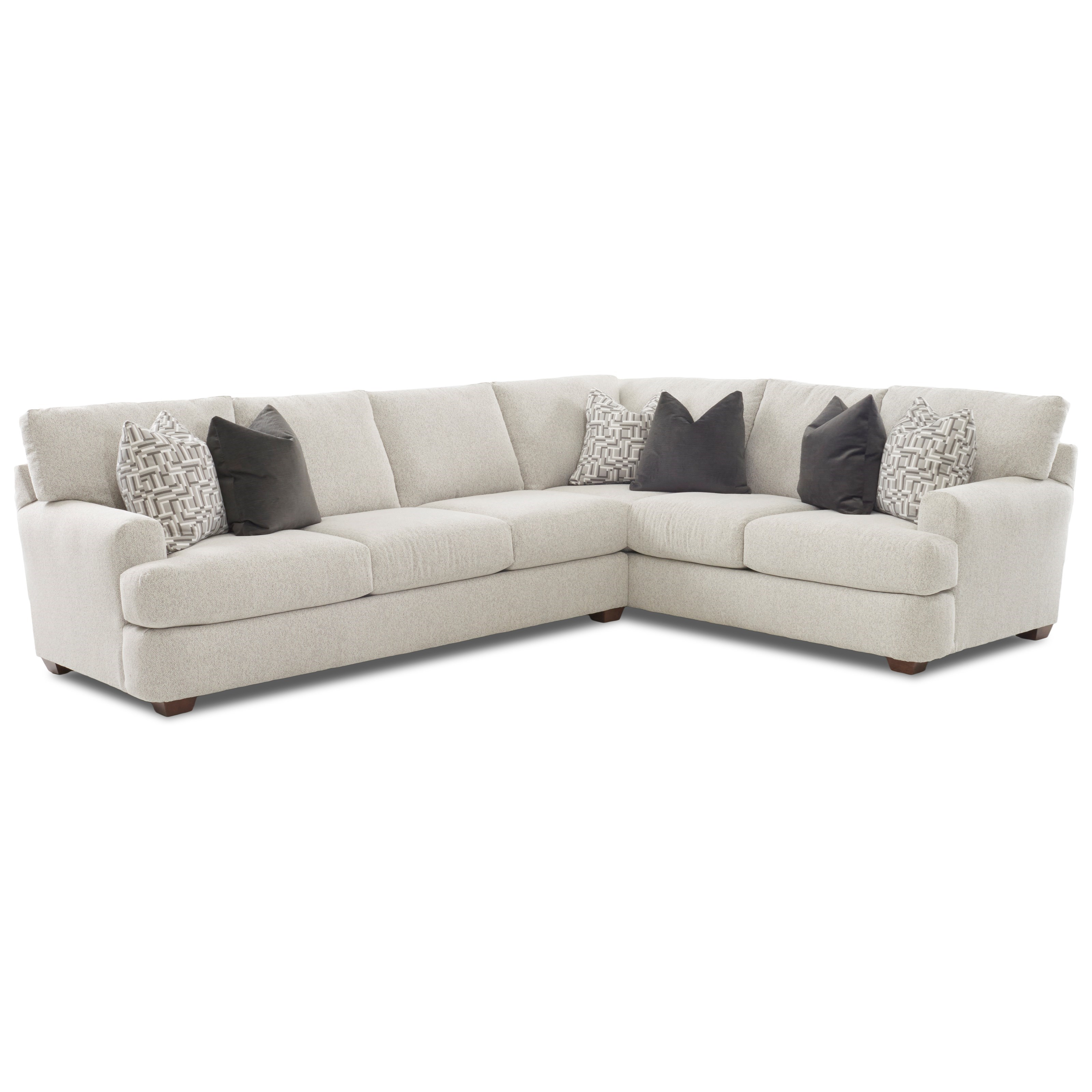 Metropia Hammond Two Piece Sectional Sofa With Raf Corner Sofa Ruby Gordon Home Sectional Sofas