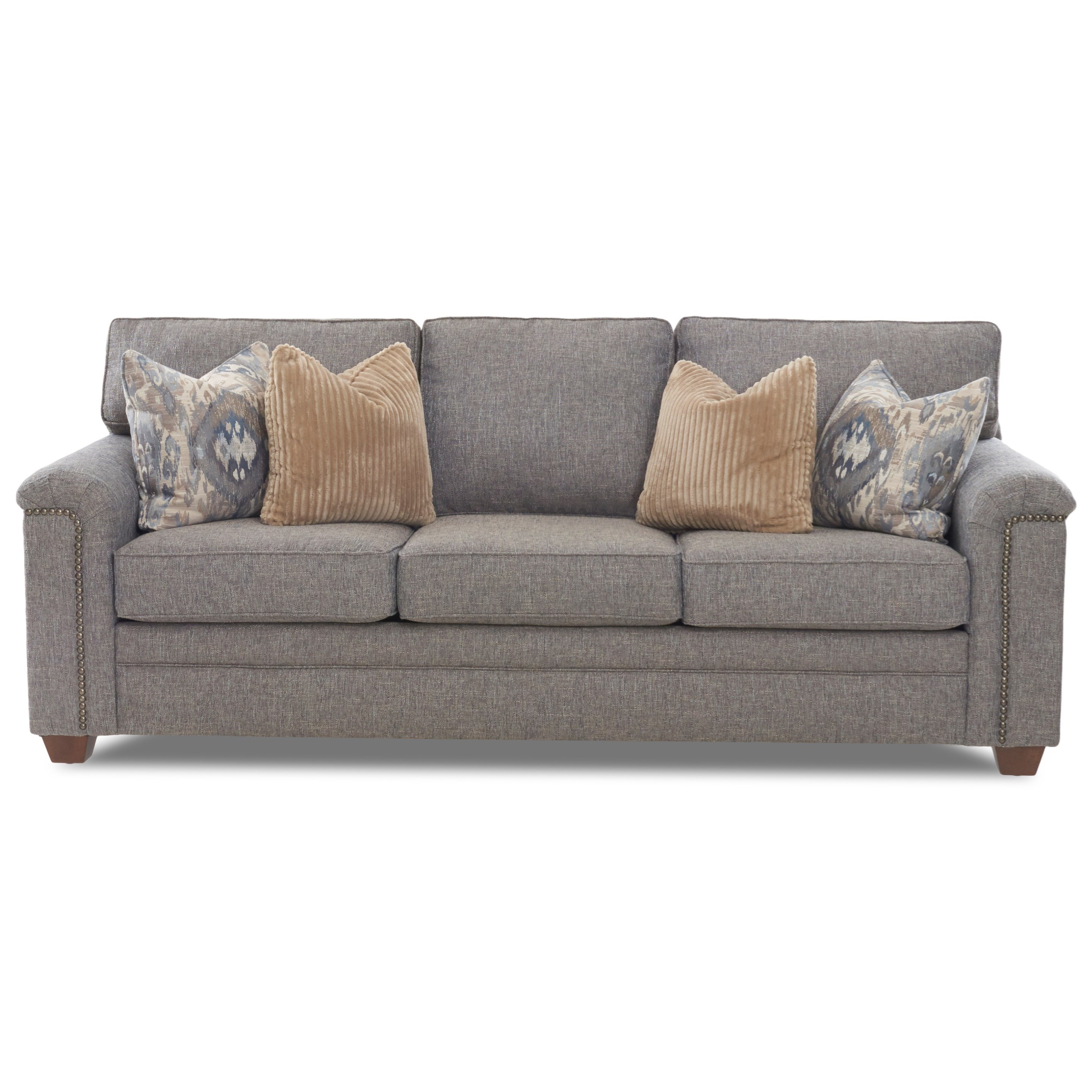 Sofa S Hollins Transitional Sofa With Nailhead Trim By Klaussner At Northeast Factory Direct